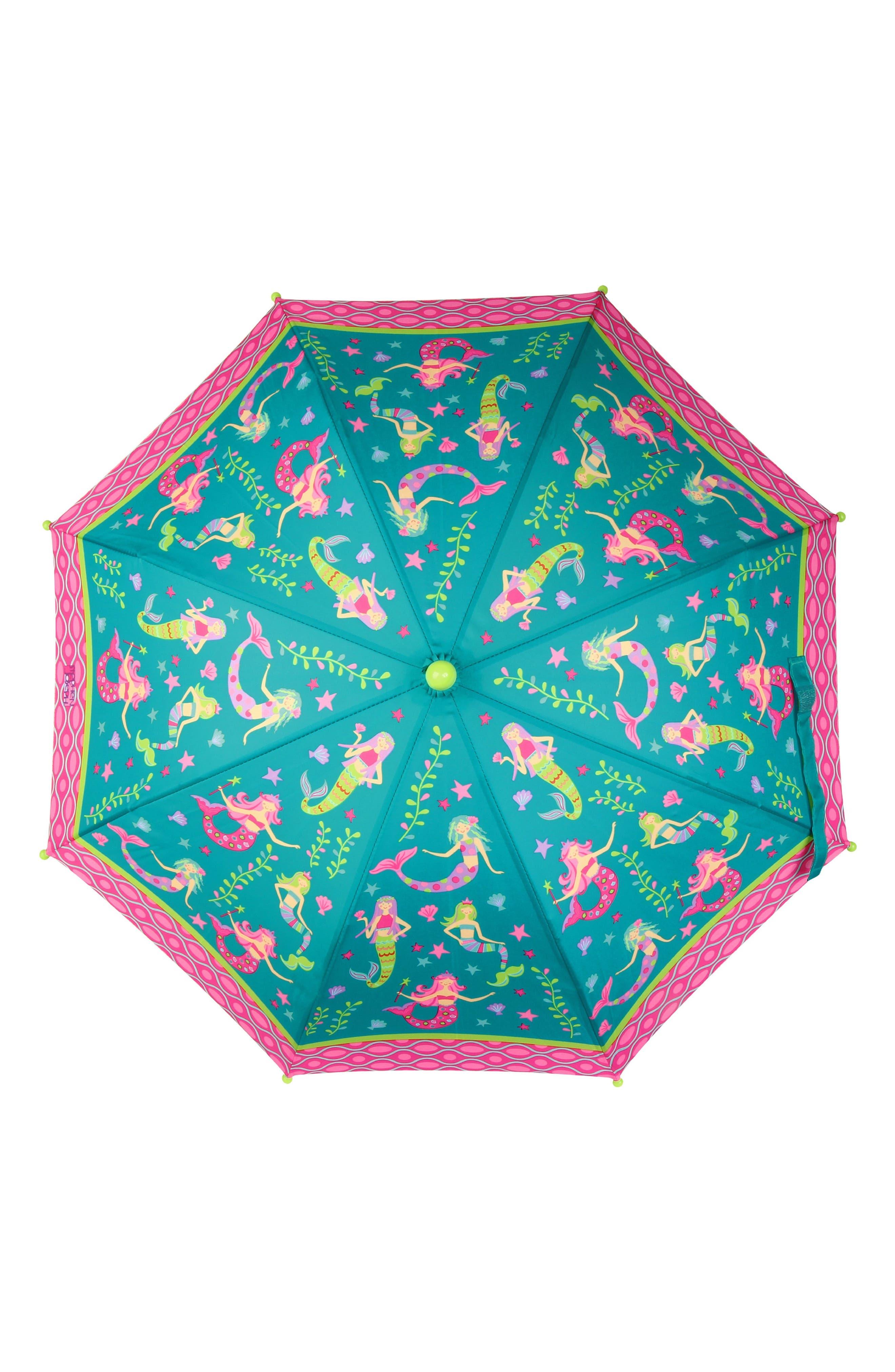 Alternate Image 5  - Stephen Joseph Mermaid Raincoat & Umbrella Set (Toddler Girls, Little Girls & Big Girls)