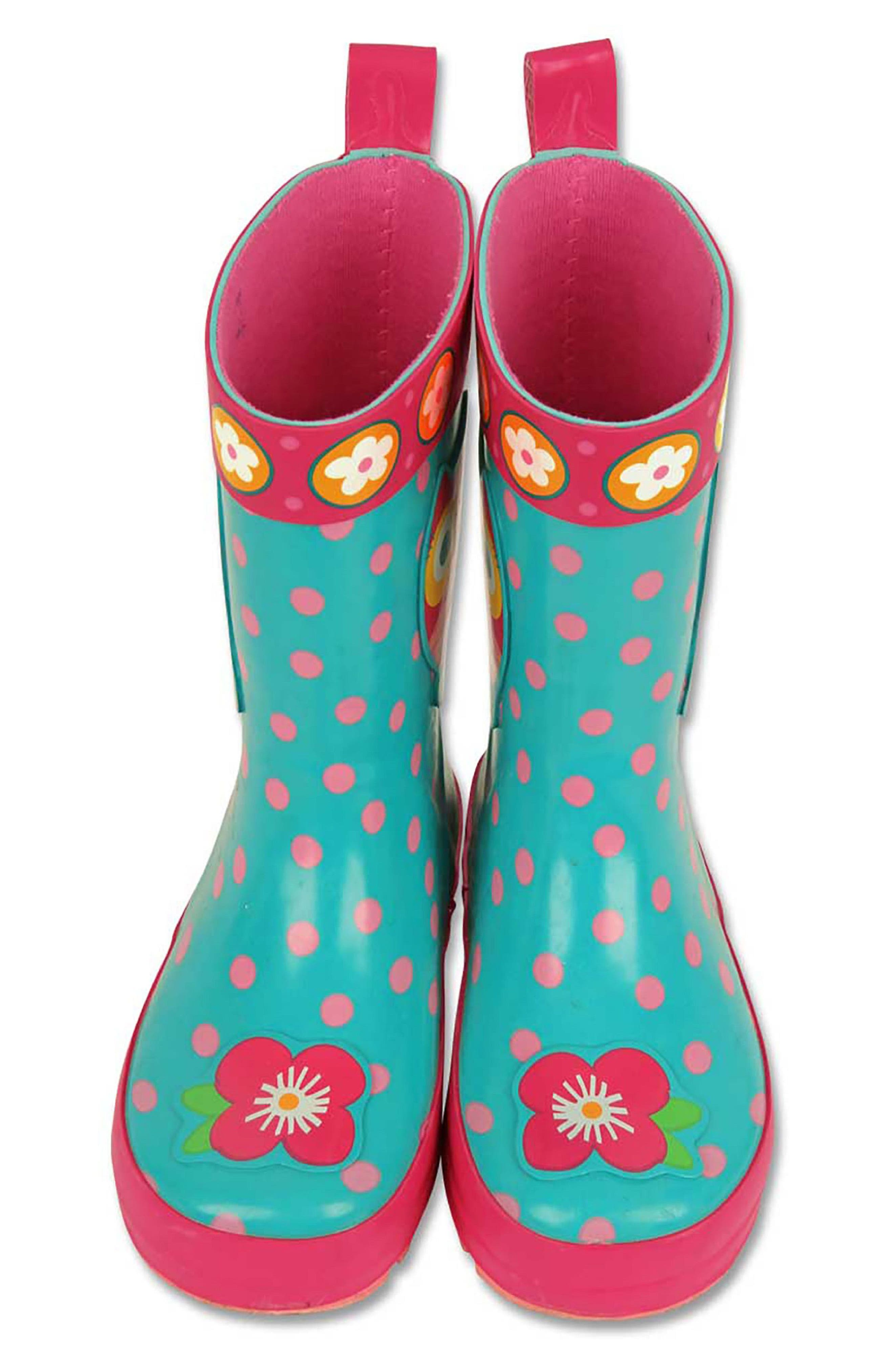 Alternate Image 3  - Stephen Joseph Owl Rain Boots & Umbrella Set (Little Girls & Big Girls)