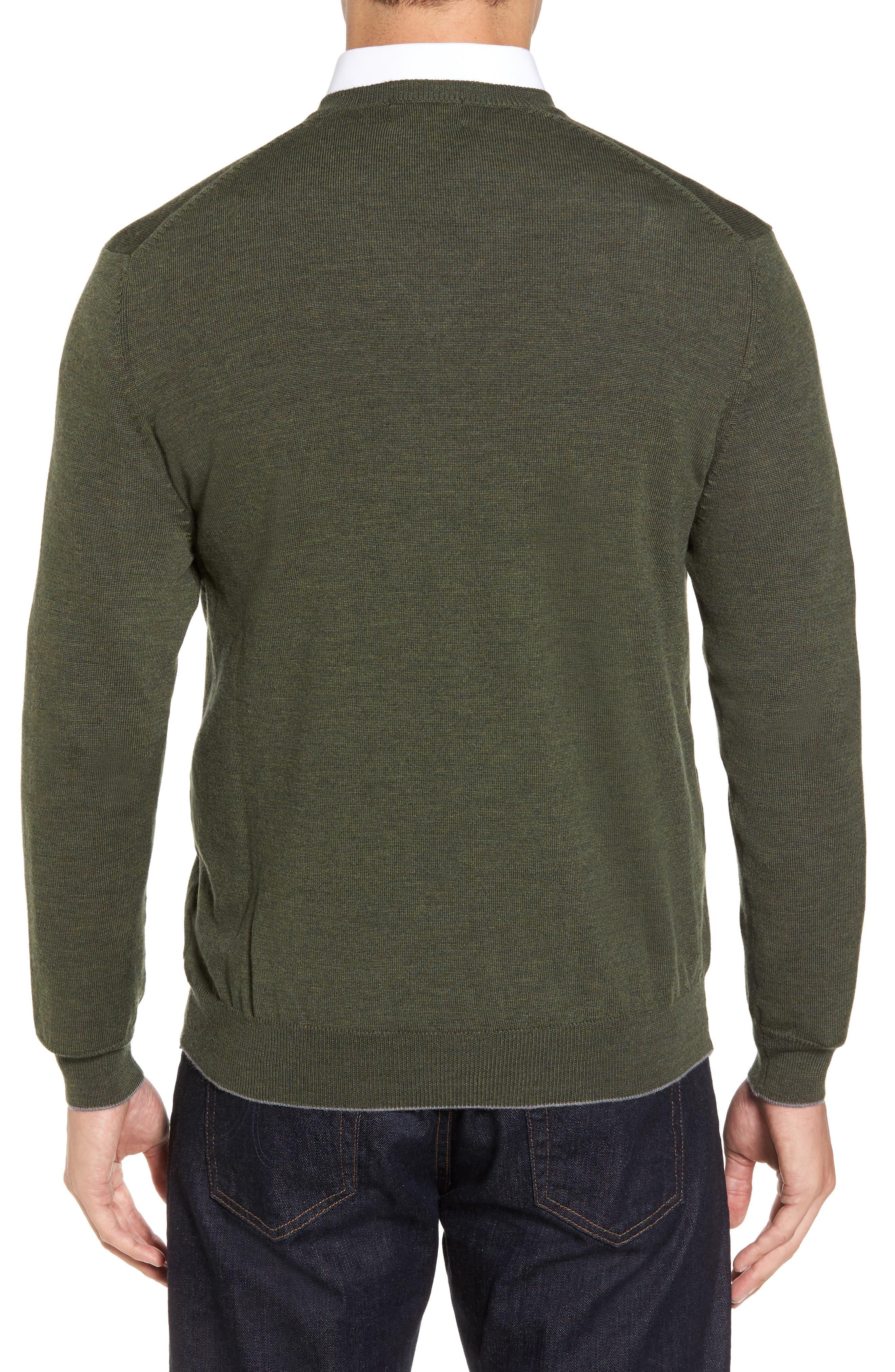 Alternate Image 2  - Thomas Dean Merino Wool Blend V-Neck Sweater