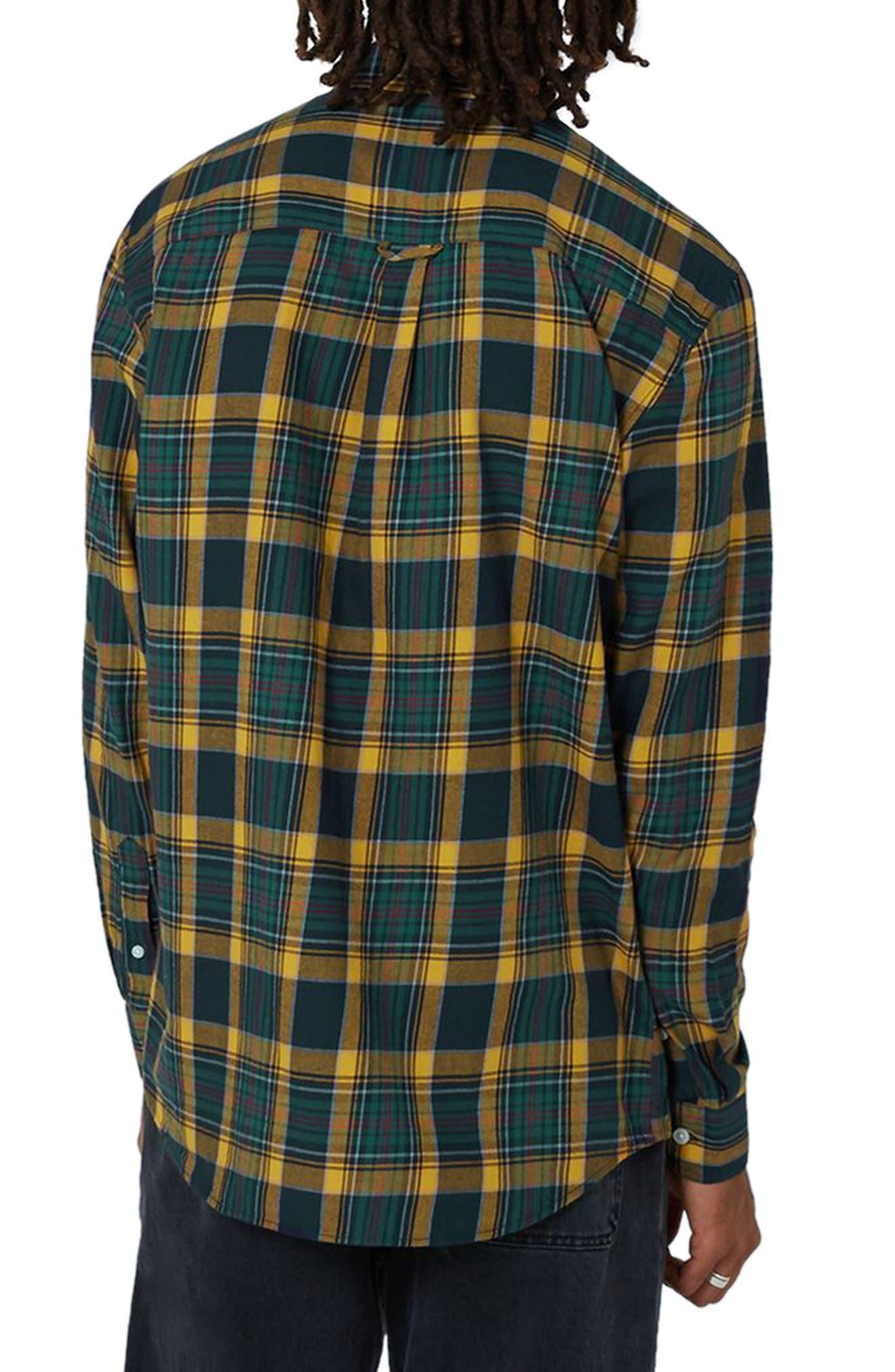 Trim Fit Check Shirt,                             Alternate thumbnail 2, color,                             Navy Blue Multi