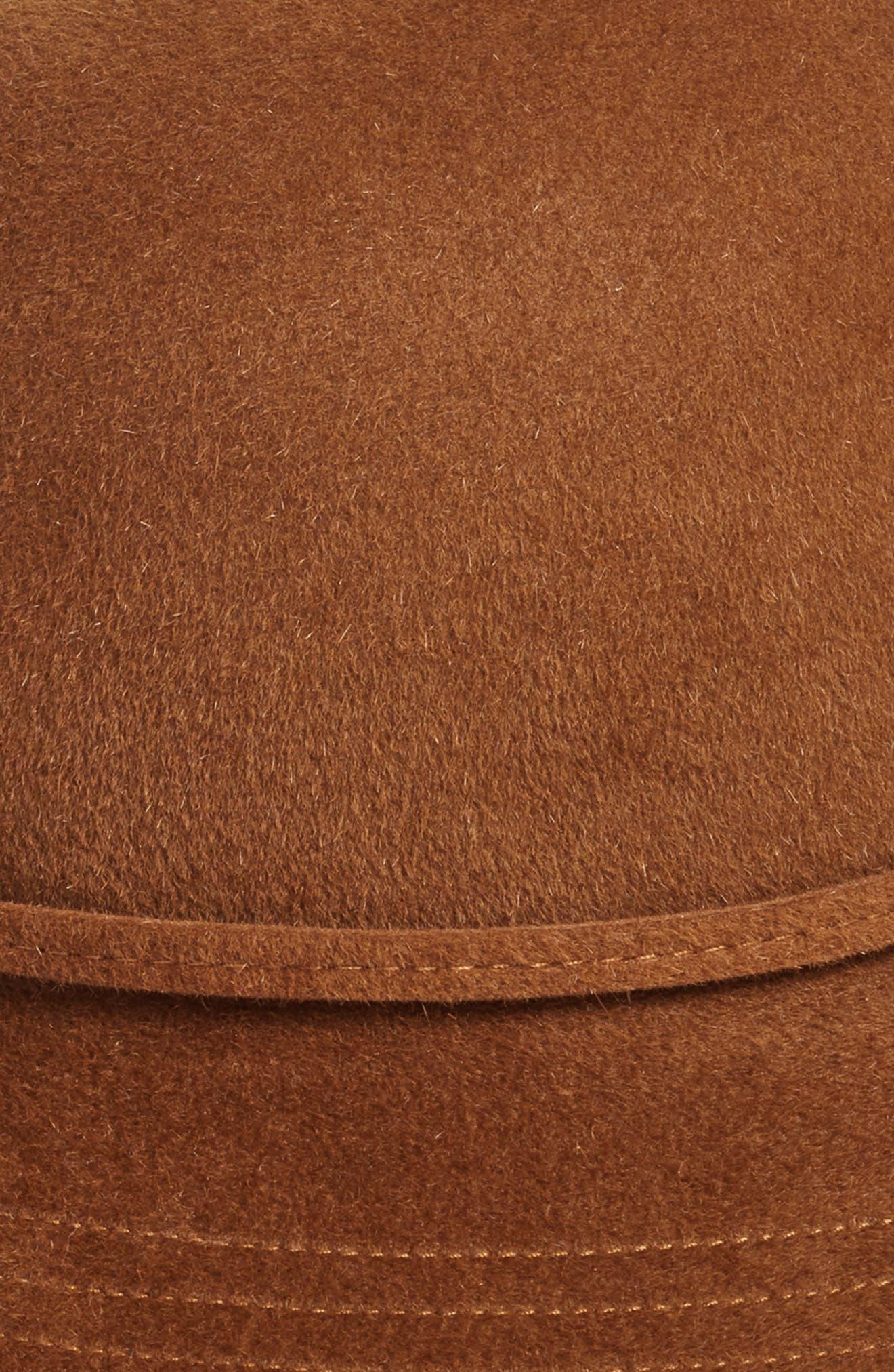 Rollable Genuine Rabbit Fur Cloche,                             Alternate thumbnail 2, color,                             Carmelo