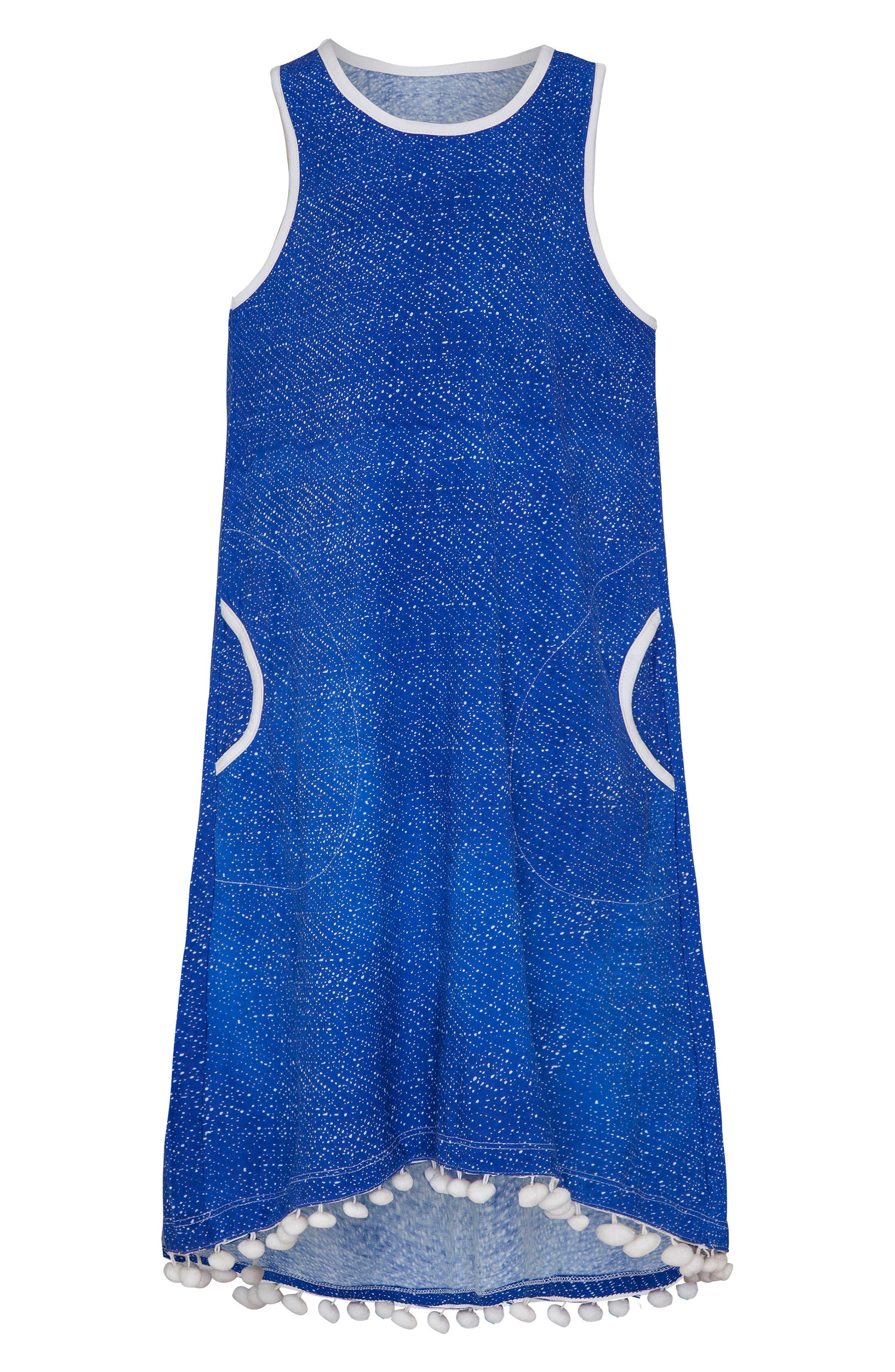 Main Image - Platypus Australia Print Cover-Up Dress (Big Girls)