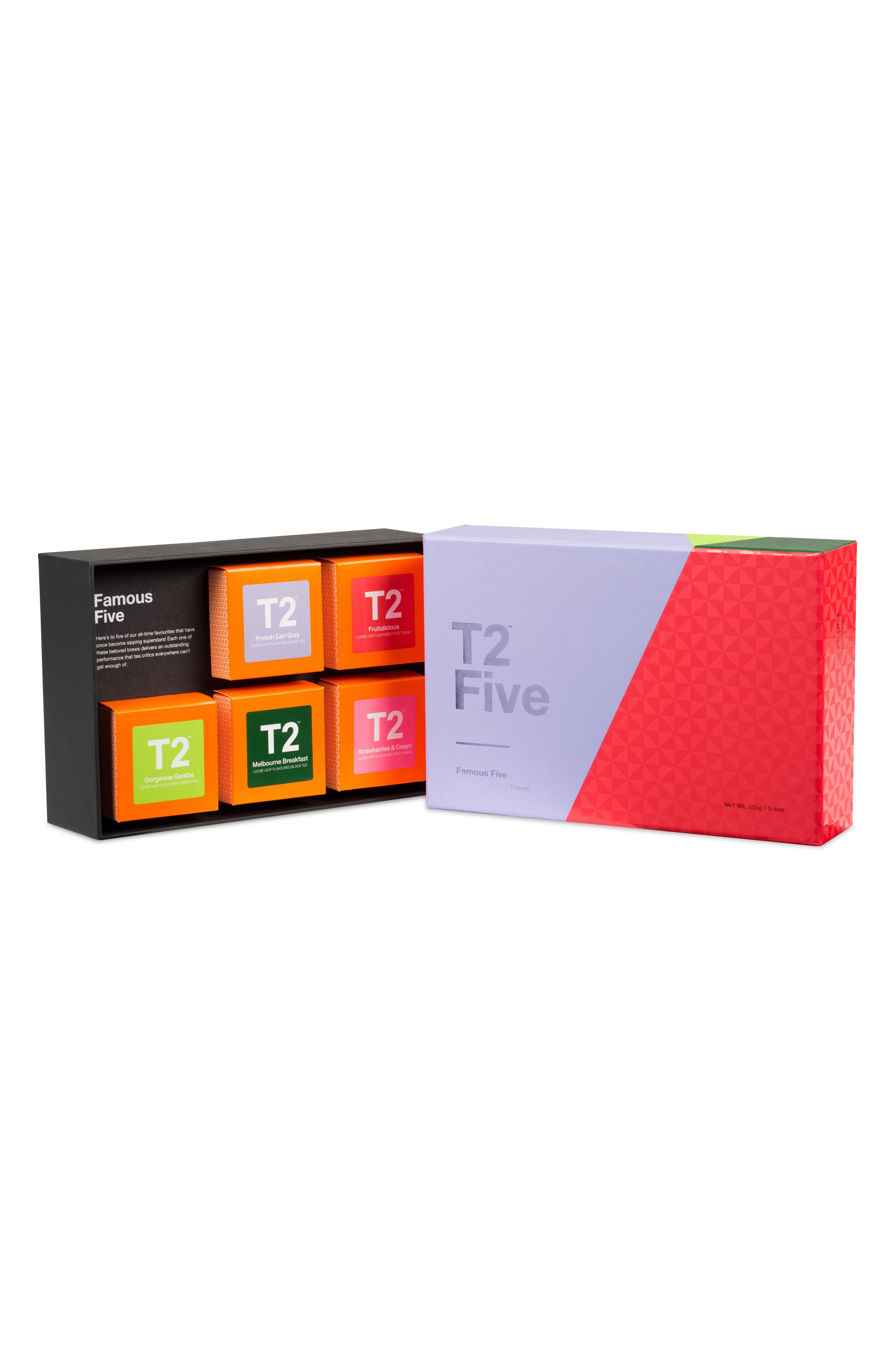 Five Famous Fives Loose Leaf Tea Box Set,                             Alternate thumbnail 2, color,                             Multi