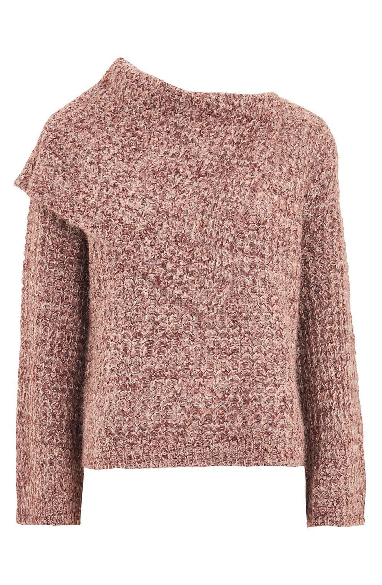 Alternate Image 3  - Topshop Lofty Envelope Neck Sweater