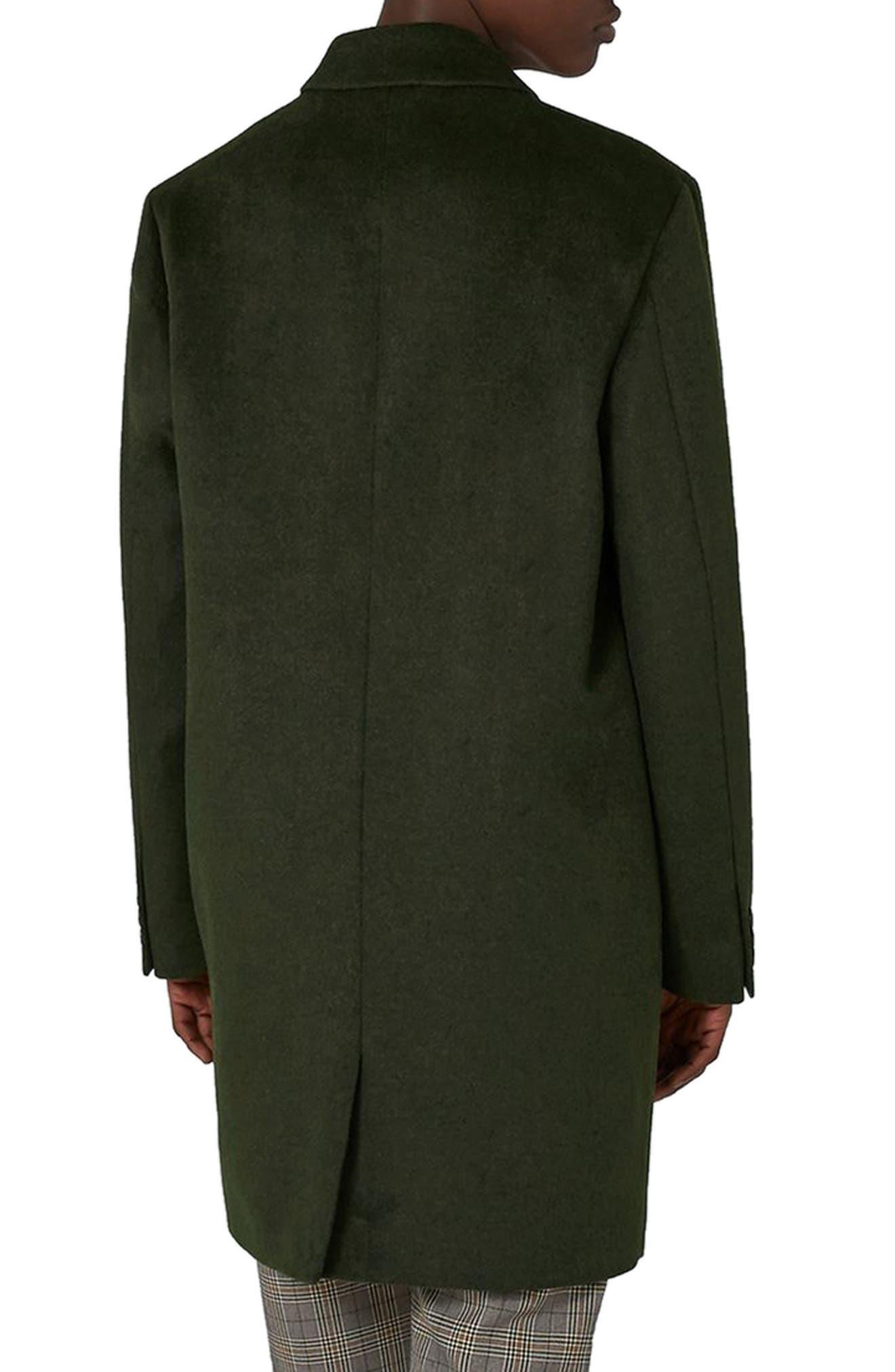 Alternate Image 2  - Topman Khaki Overcoat
