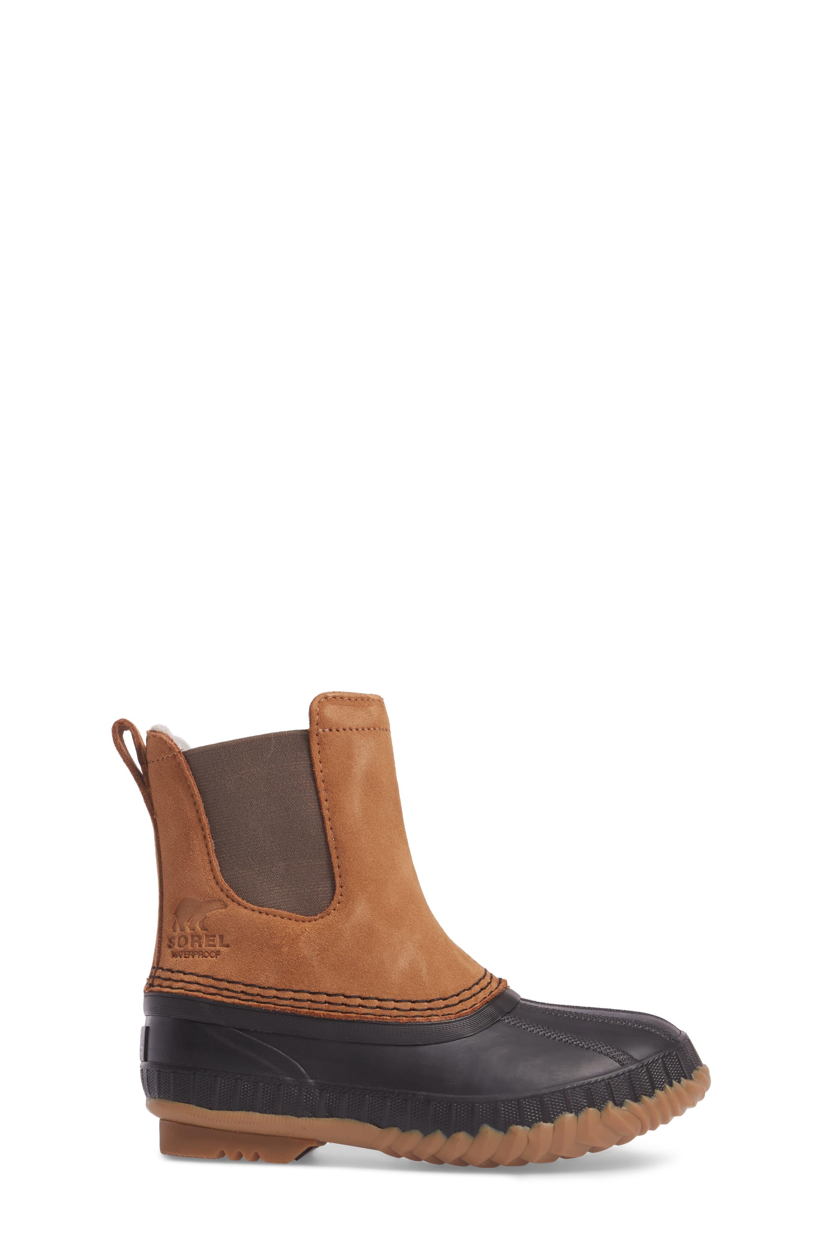 Cheyanne II Waterproof Insulated Chelsea Boot,                             Alternate thumbnail 3, color,                             Elk/ Black