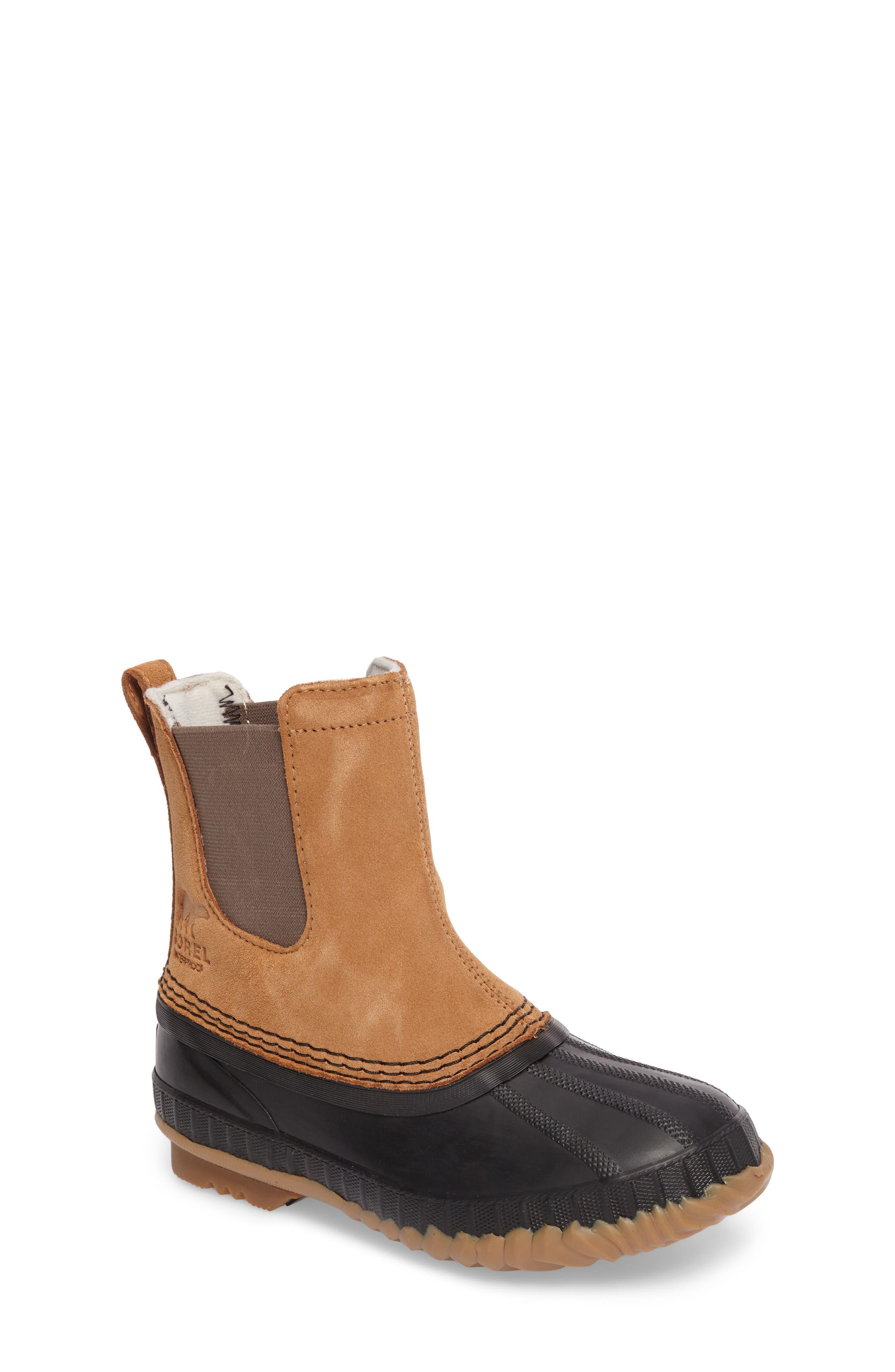 Cheyanne II Waterproof Insulated Chelsea Boot,                             Main thumbnail 1, color,                             Elk/ Black