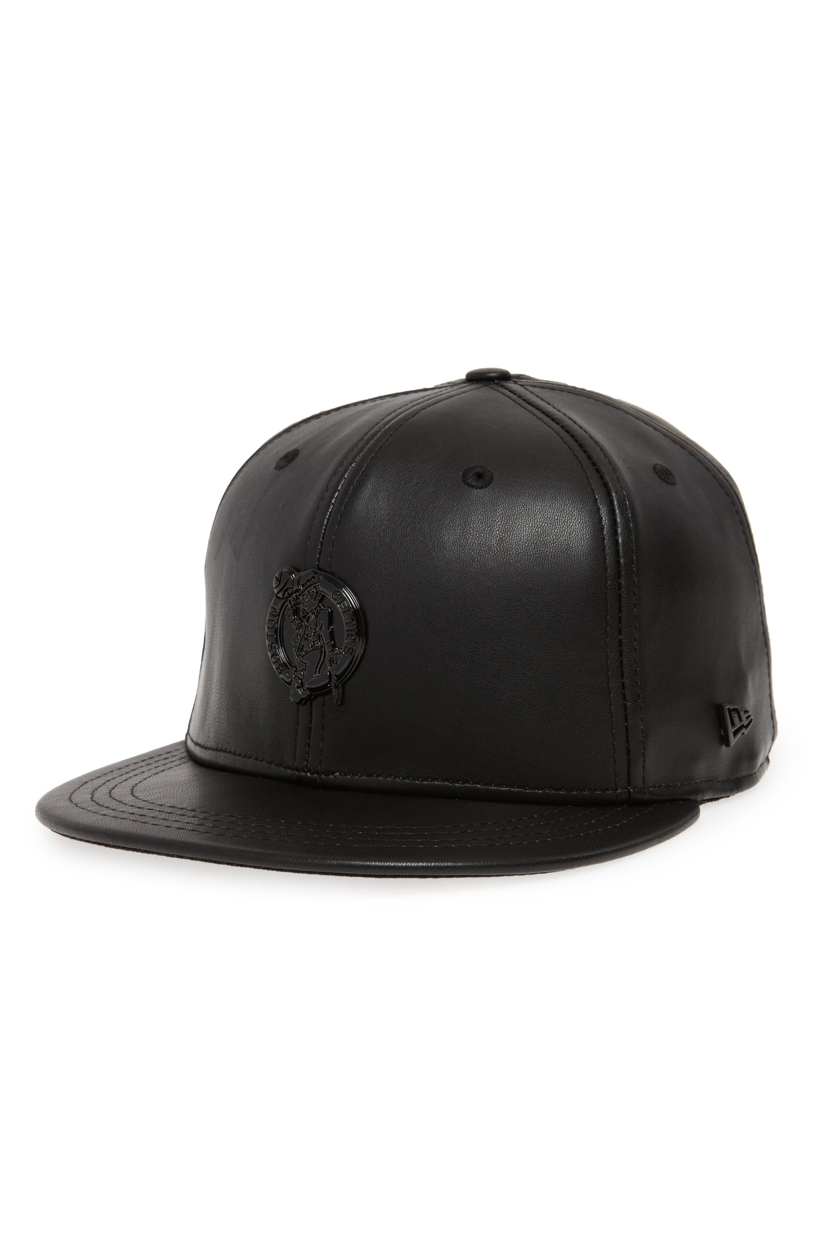 New Era NBA Glossy Faux Leather Snapback Cap