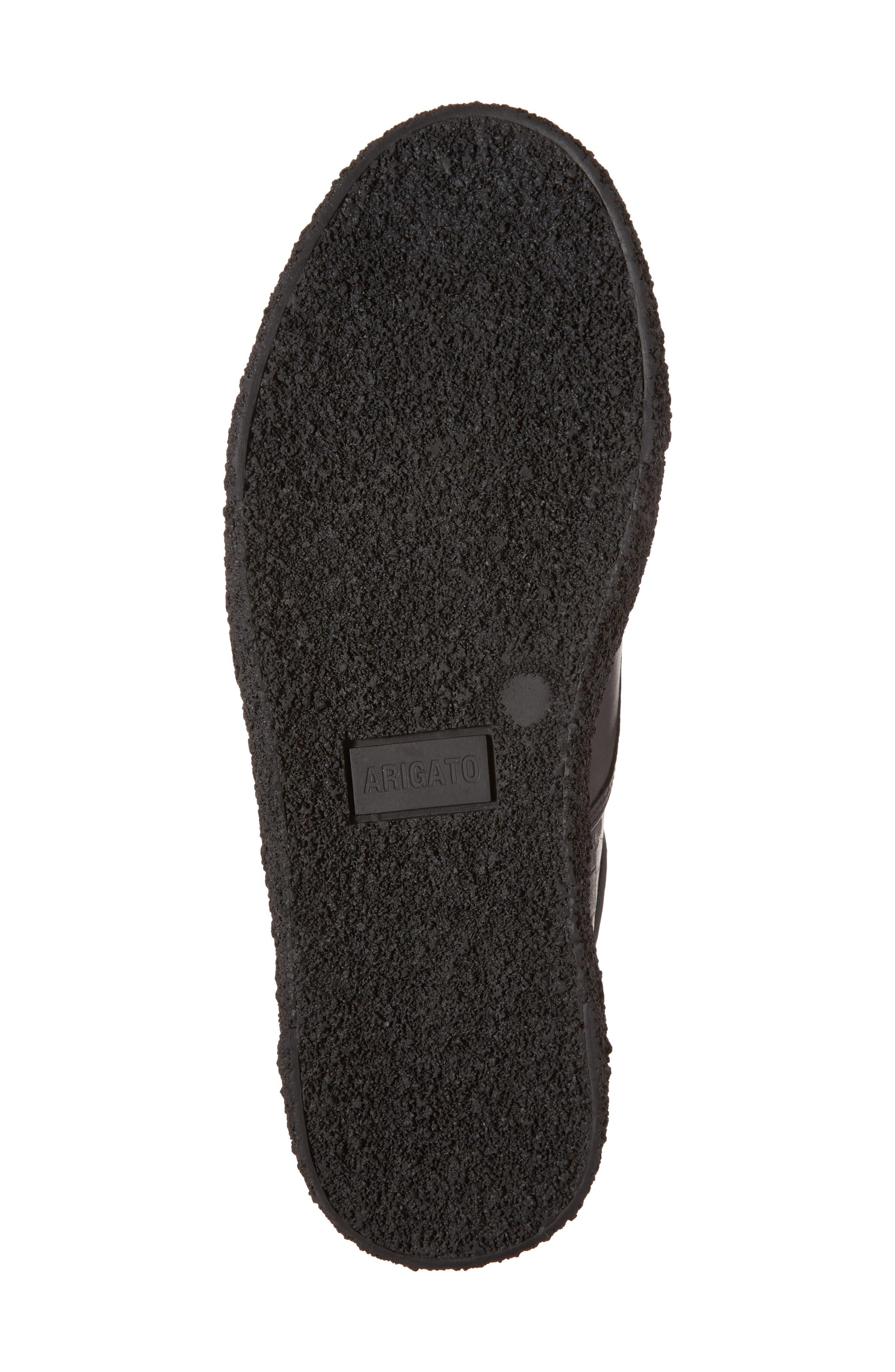 Skate Embossed Sneaker,                             Alternate thumbnail 6, color,                             Black Leather