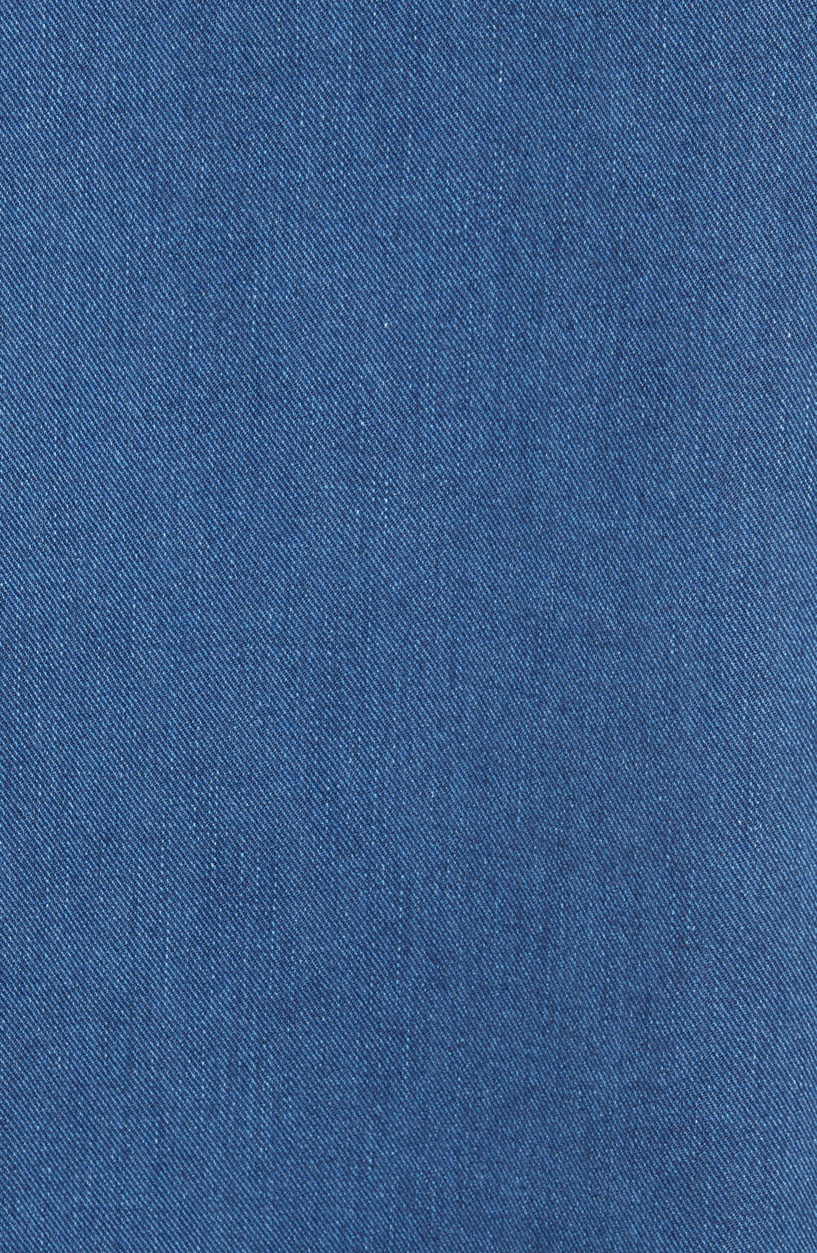 '80s Wash Denim Dress,                             Alternate thumbnail 5, color,                             Medium Blue