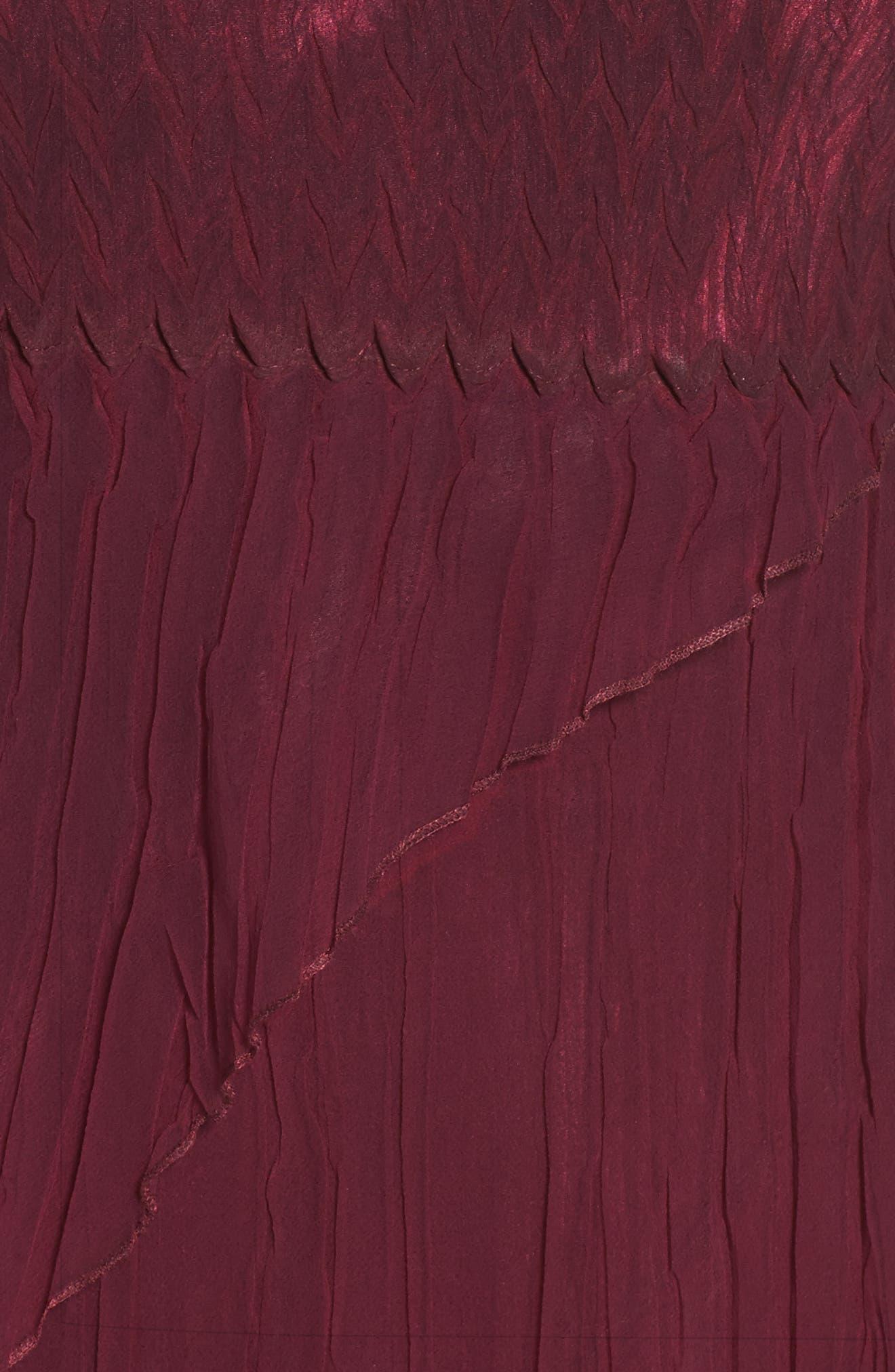 Alternate Image 4  - Komarov Tiered A-Line Dress with Shawl (Regular & Petite)