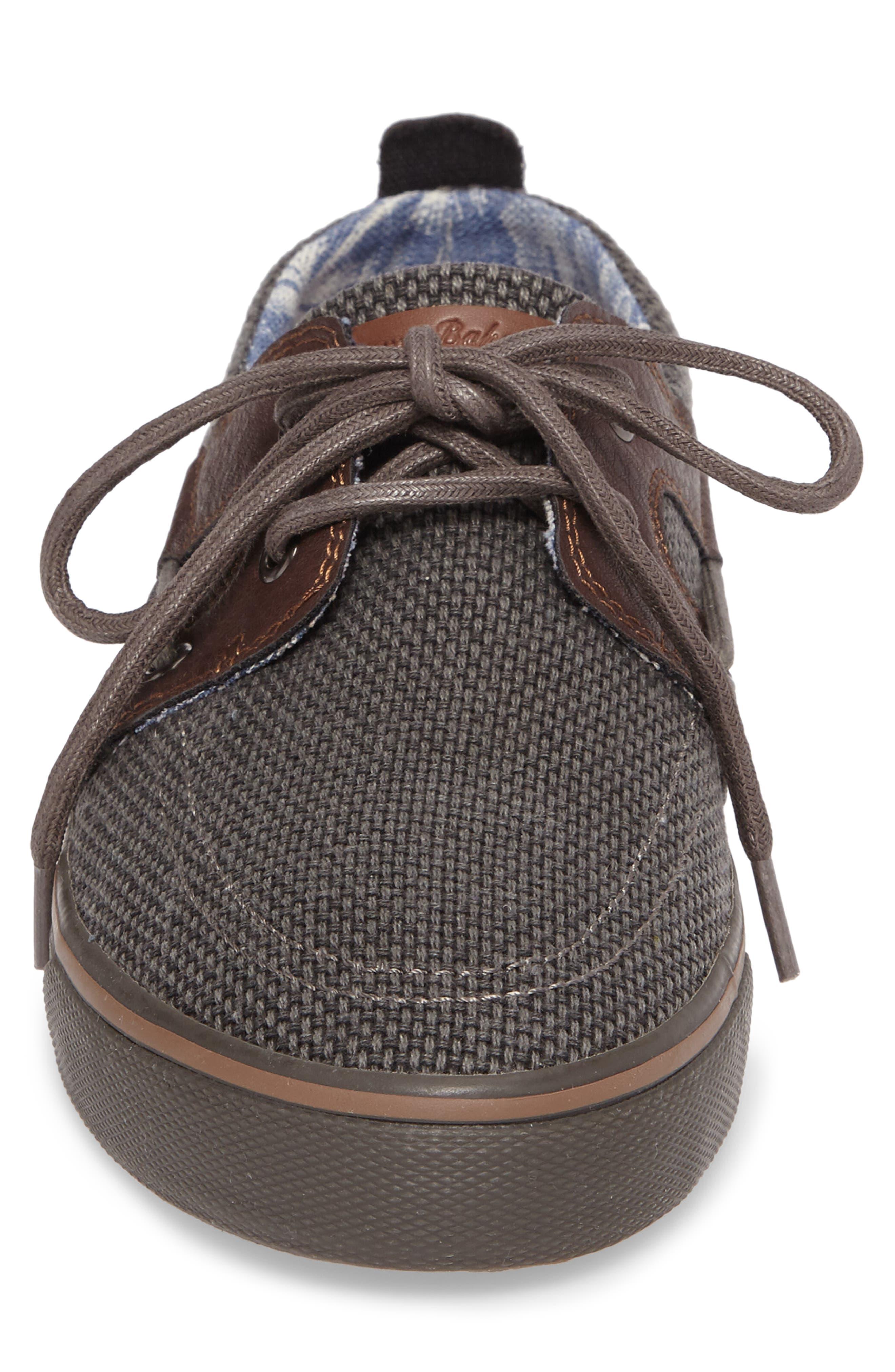 Stripe Breaker Sneaker,                             Alternate thumbnail 4, color,                             Dark Grey/ Dark Brown