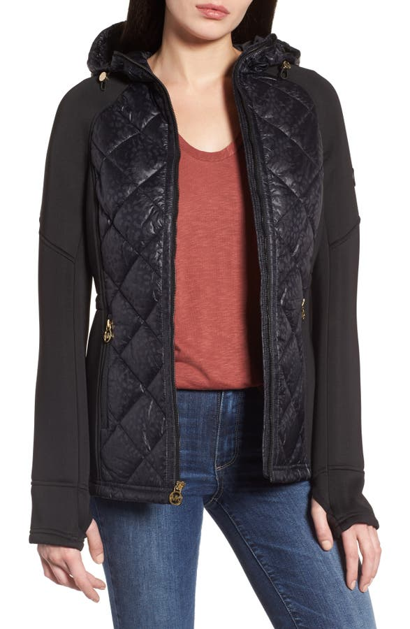 Michael Michael Kors Neoprene Diamond Quilted Jacket Nordstrom