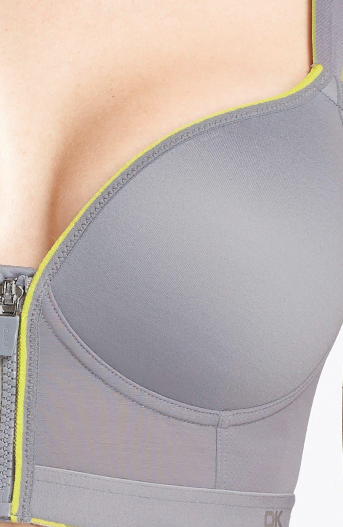 Alternate Image 3  - DKNY 'Energy' Zip Front Wireless Sports Bra
