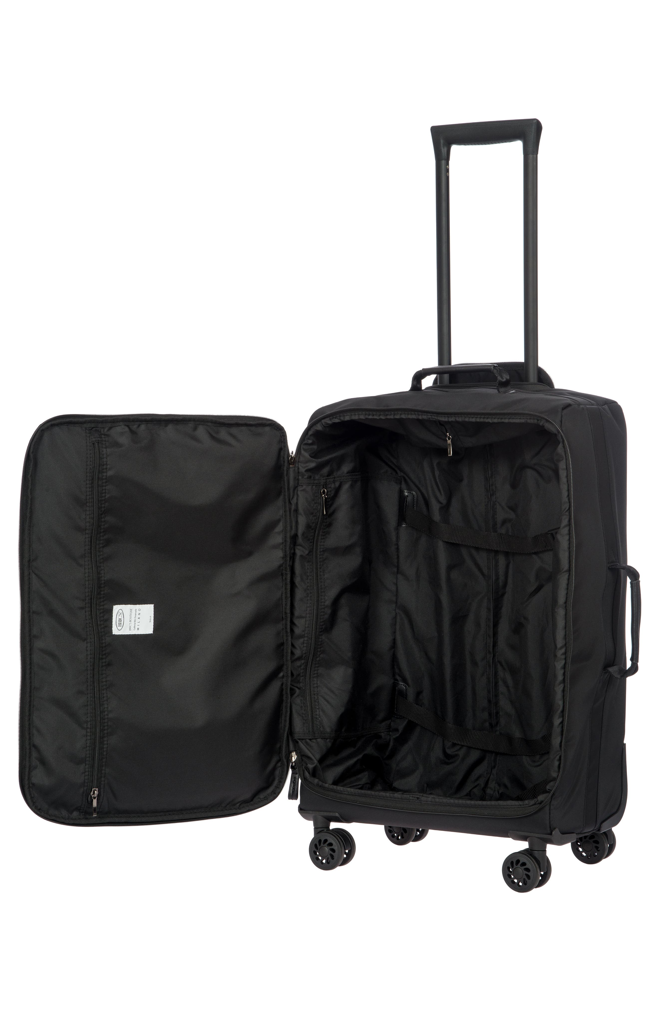 X-Bag 25-Inch Spinner Suitcase,                             Alternate thumbnail 2, color,                             Black/ Black