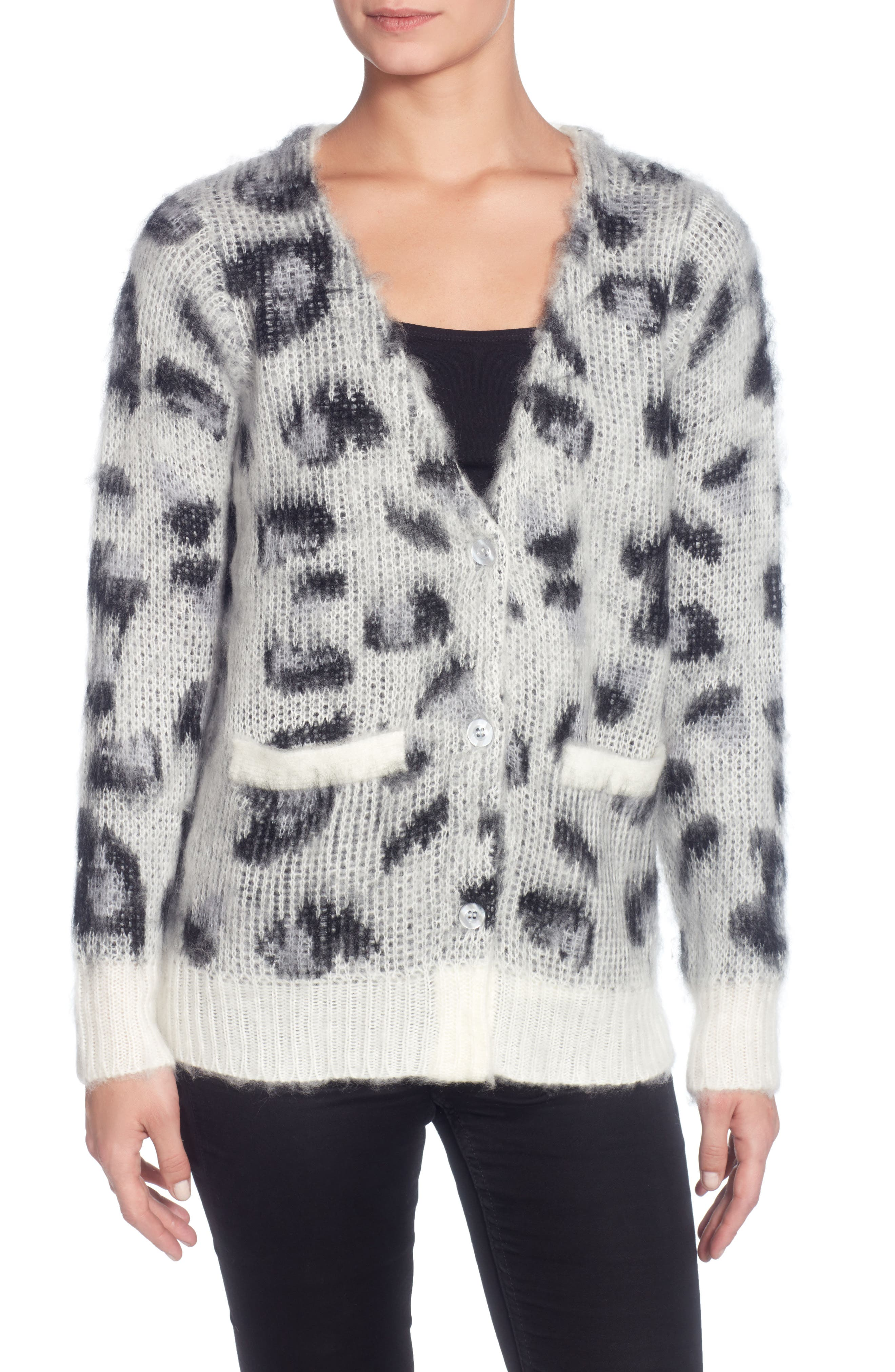 Alternate Image 1 Selected - Catherine Catherine Malandrino Leopard Cardigan