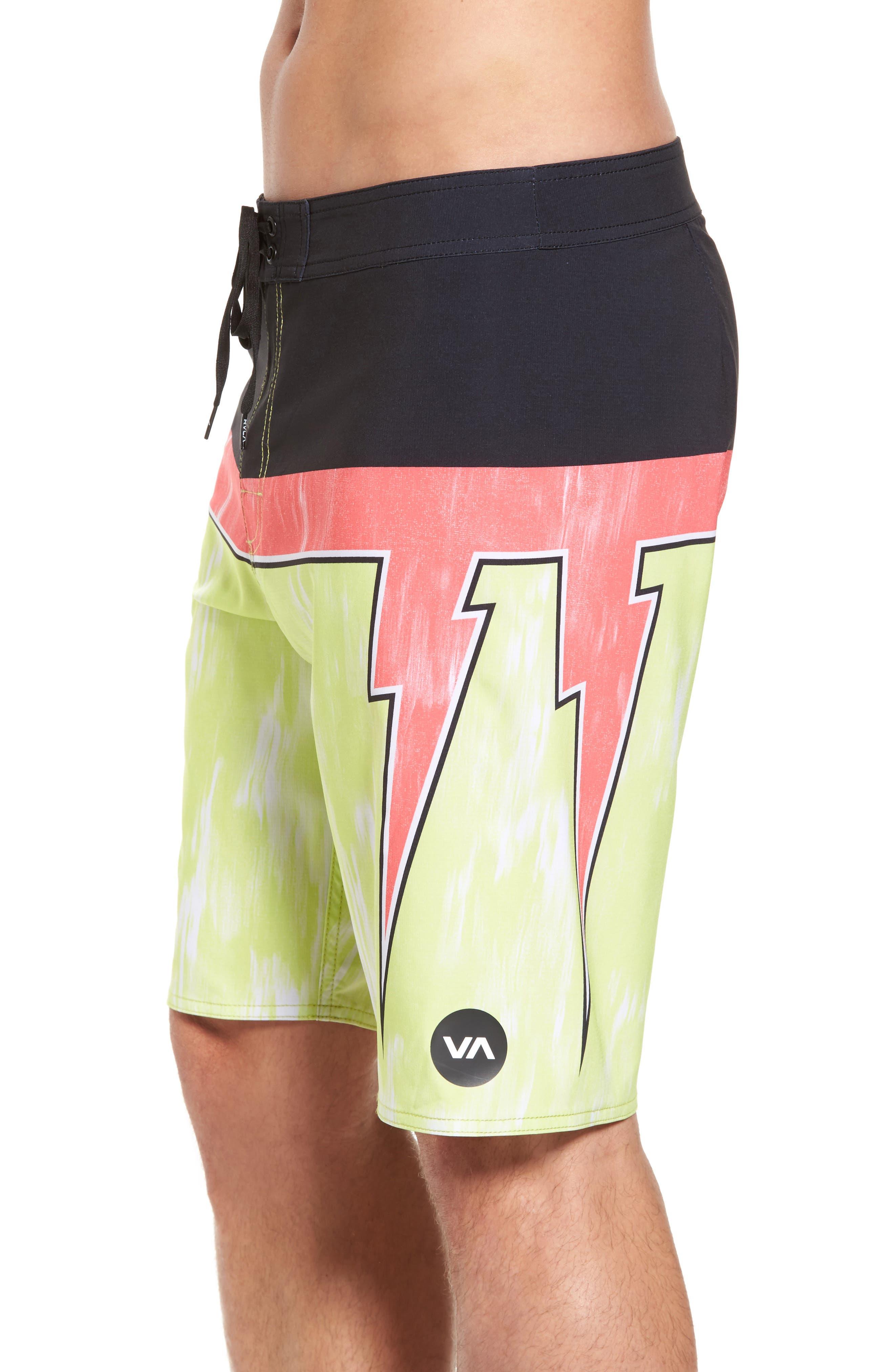 Makua Bolt Board Shorts,                             Alternate thumbnail 3, color,                             Yellow Fade