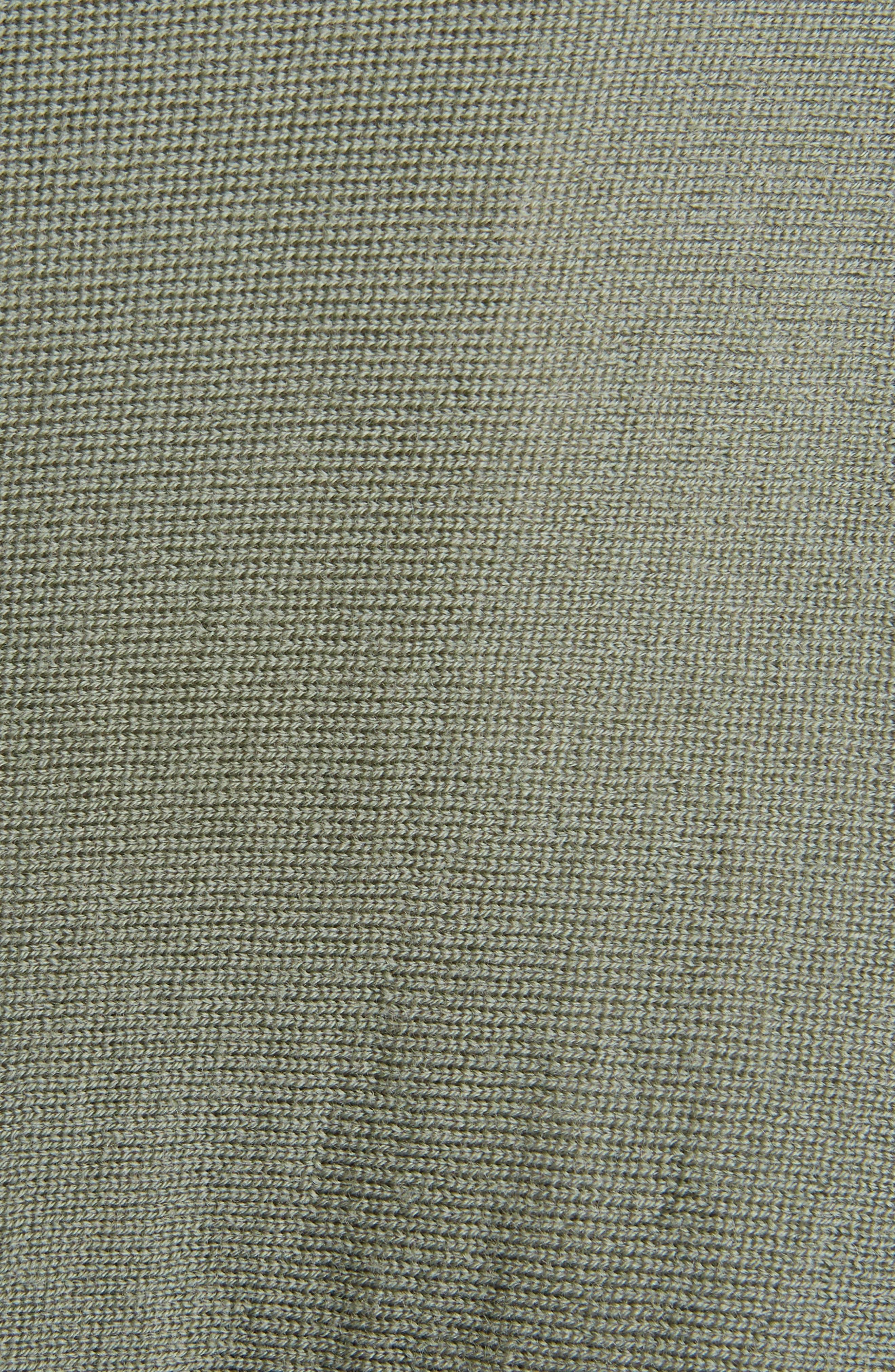 Merino Wool Drape Crop Cardigan,                             Alternate thumbnail 5, color,                             Sage