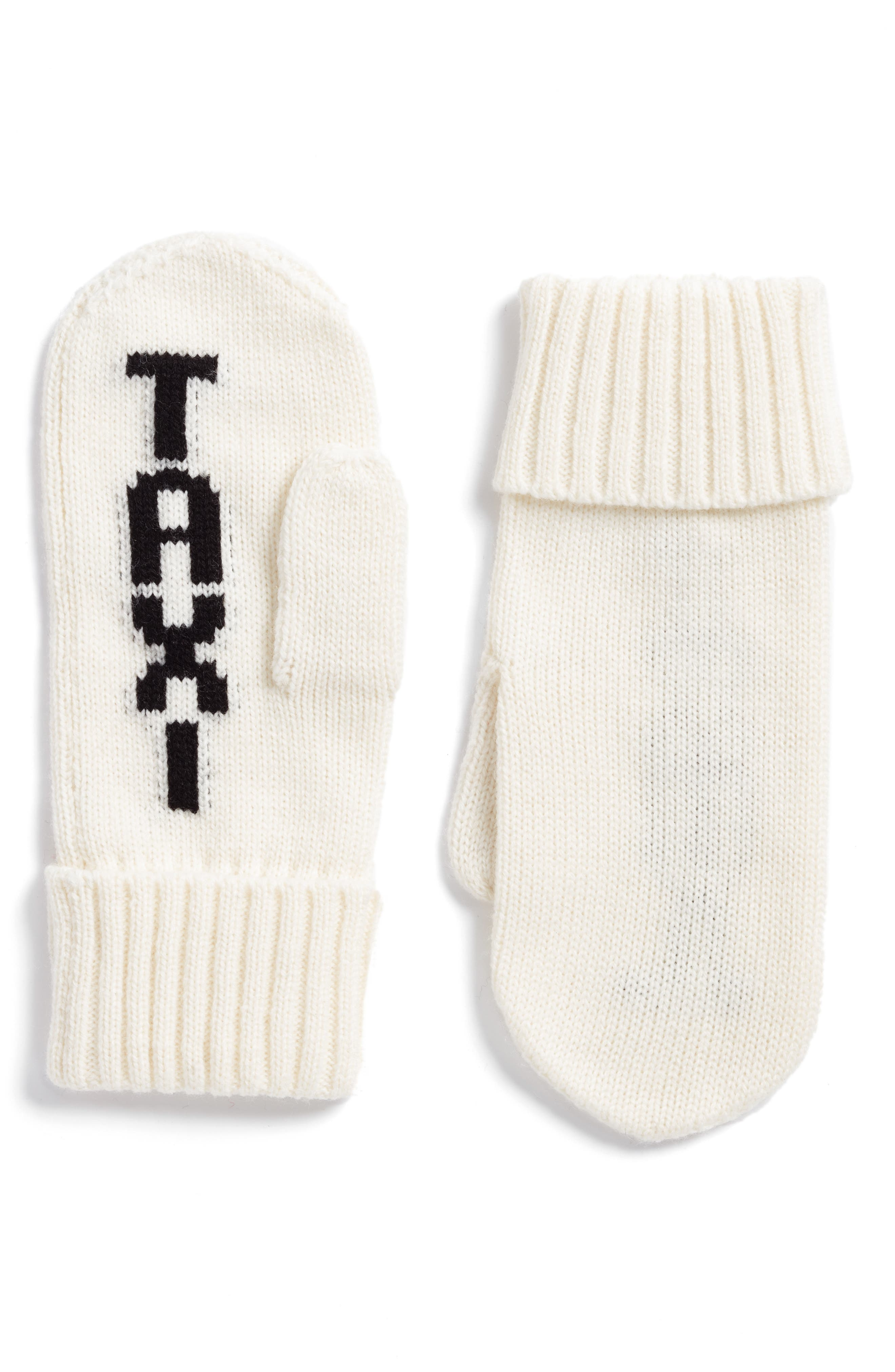 Alternate Image 1 Selected - kate spade new york taxi mittens