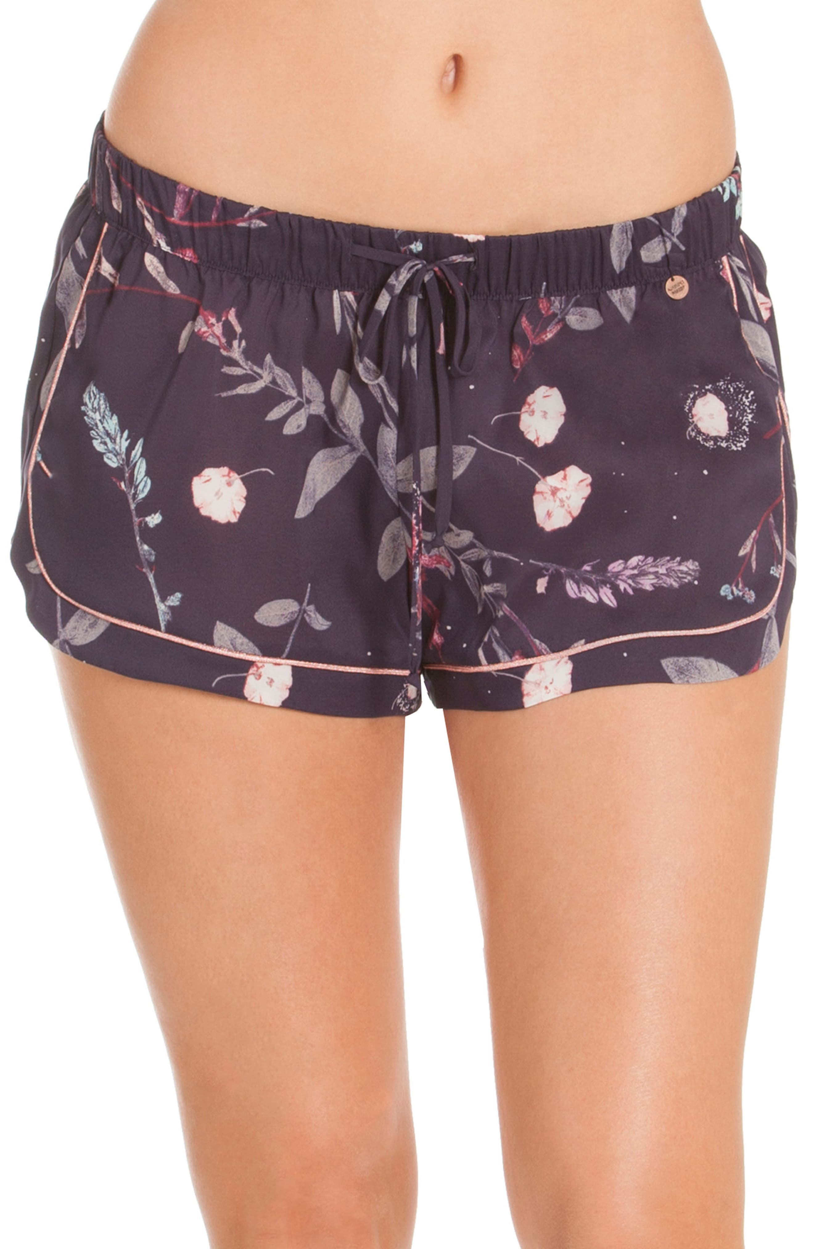 Print Lounge Shorts,                             Main thumbnail 1, color,                             Meadow