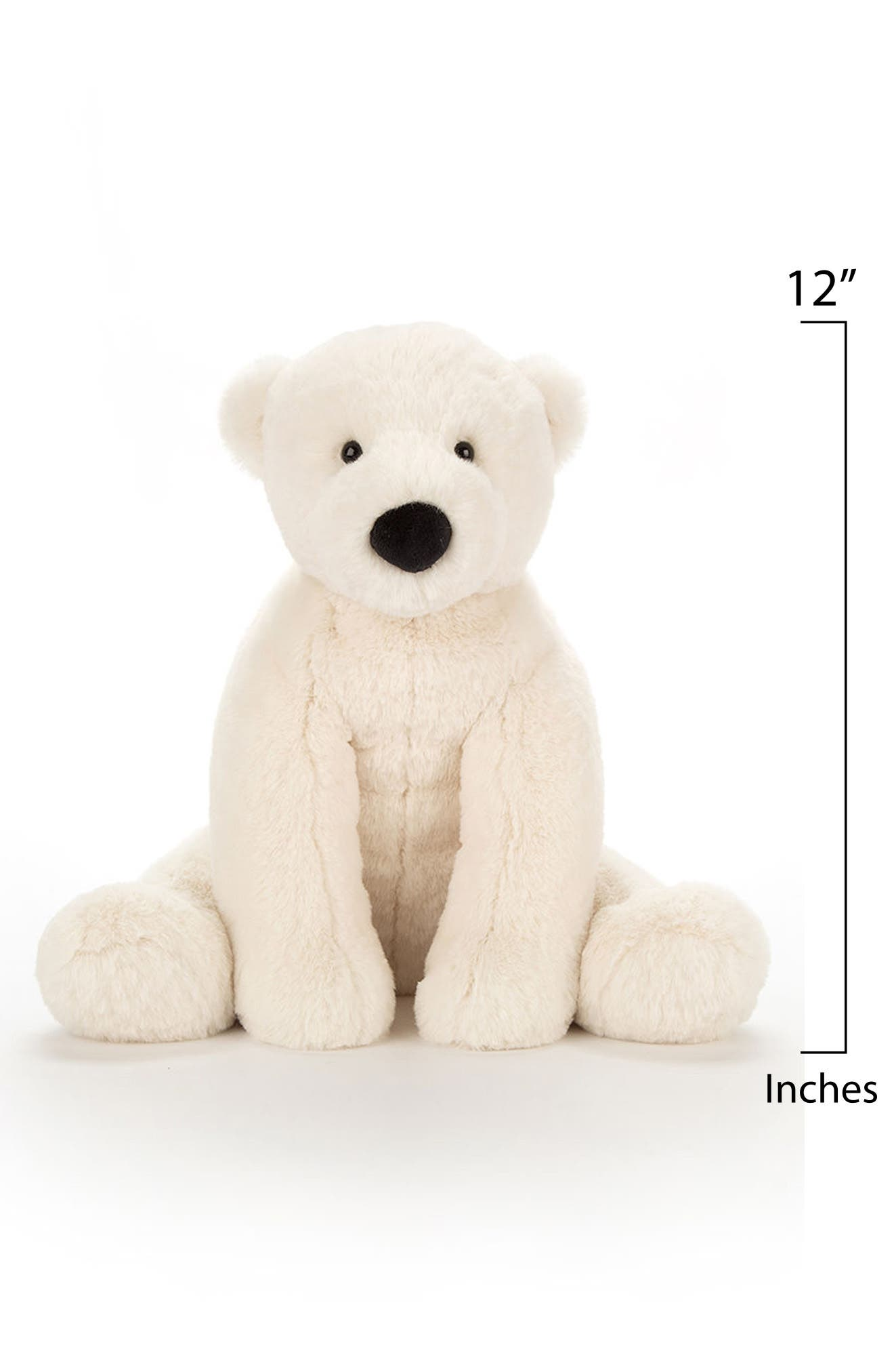Perry Polar Bear Stuffed Animal,                             Alternate thumbnail 3, color,                             White
