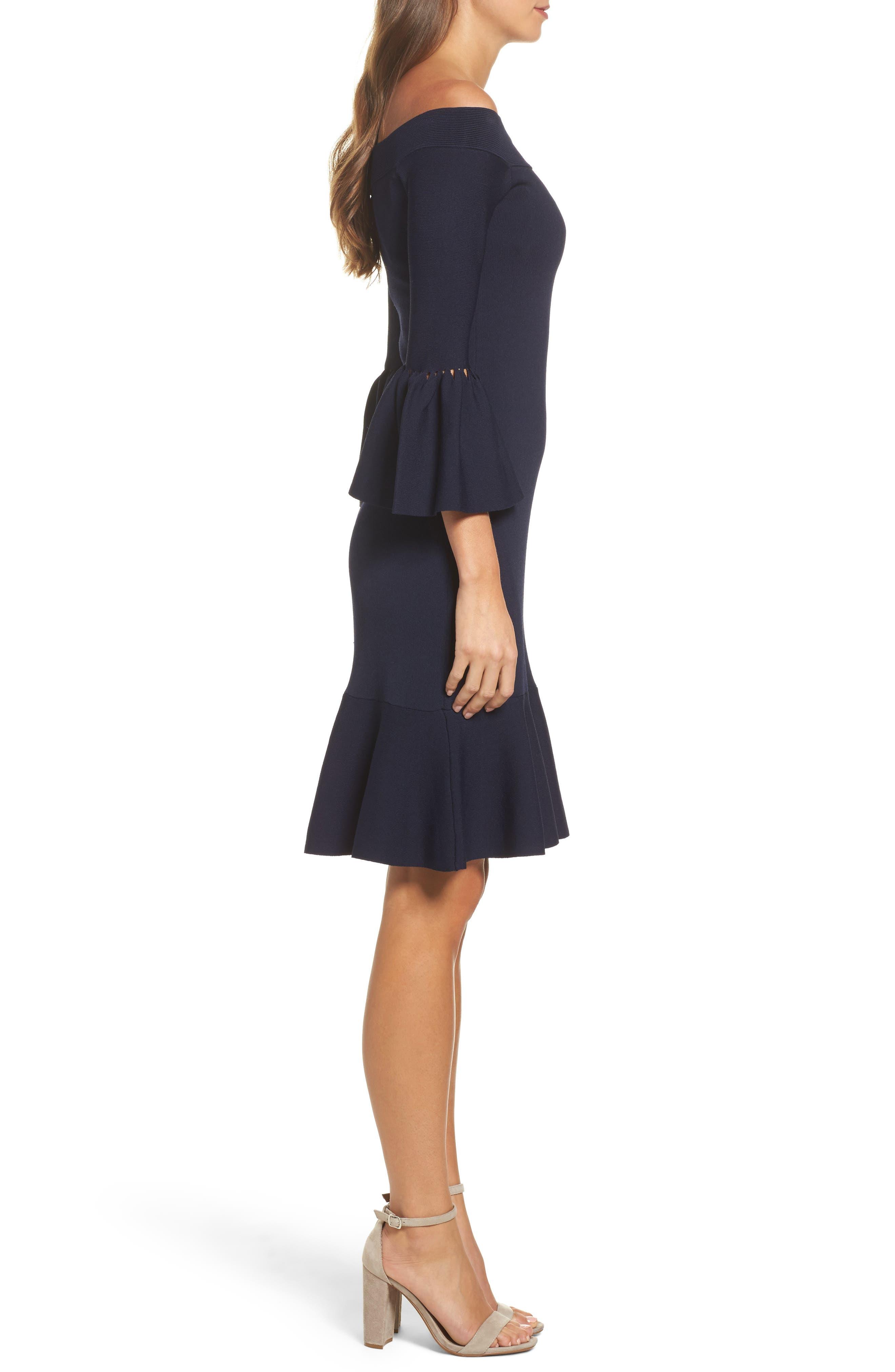 Alternate Image 3  - Eliza J Off the Shoulder Flare Hem Dress