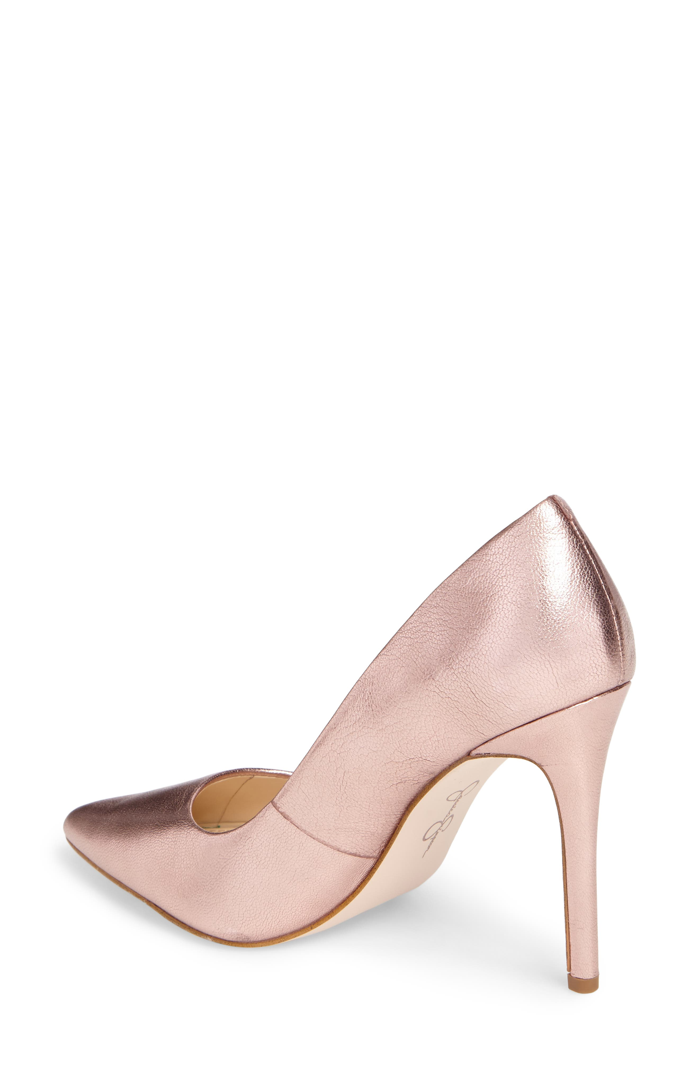 Praylee Pointy Toe Pump,                             Alternate thumbnail 2, color,                             Dolly Pink Leather