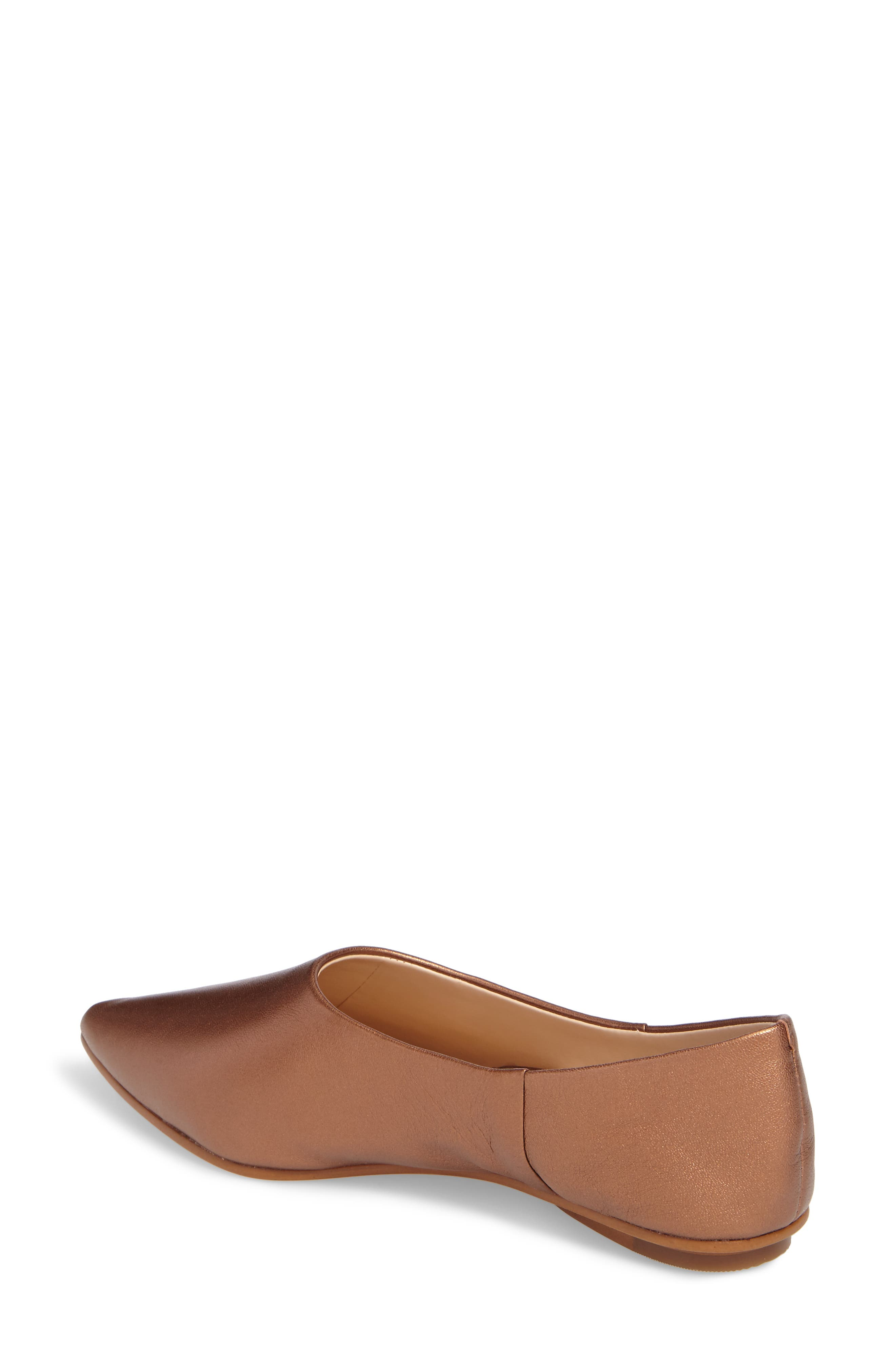 Stanta Pointy Toe Flat,                             Alternate thumbnail 2, color,                             Penny Leather