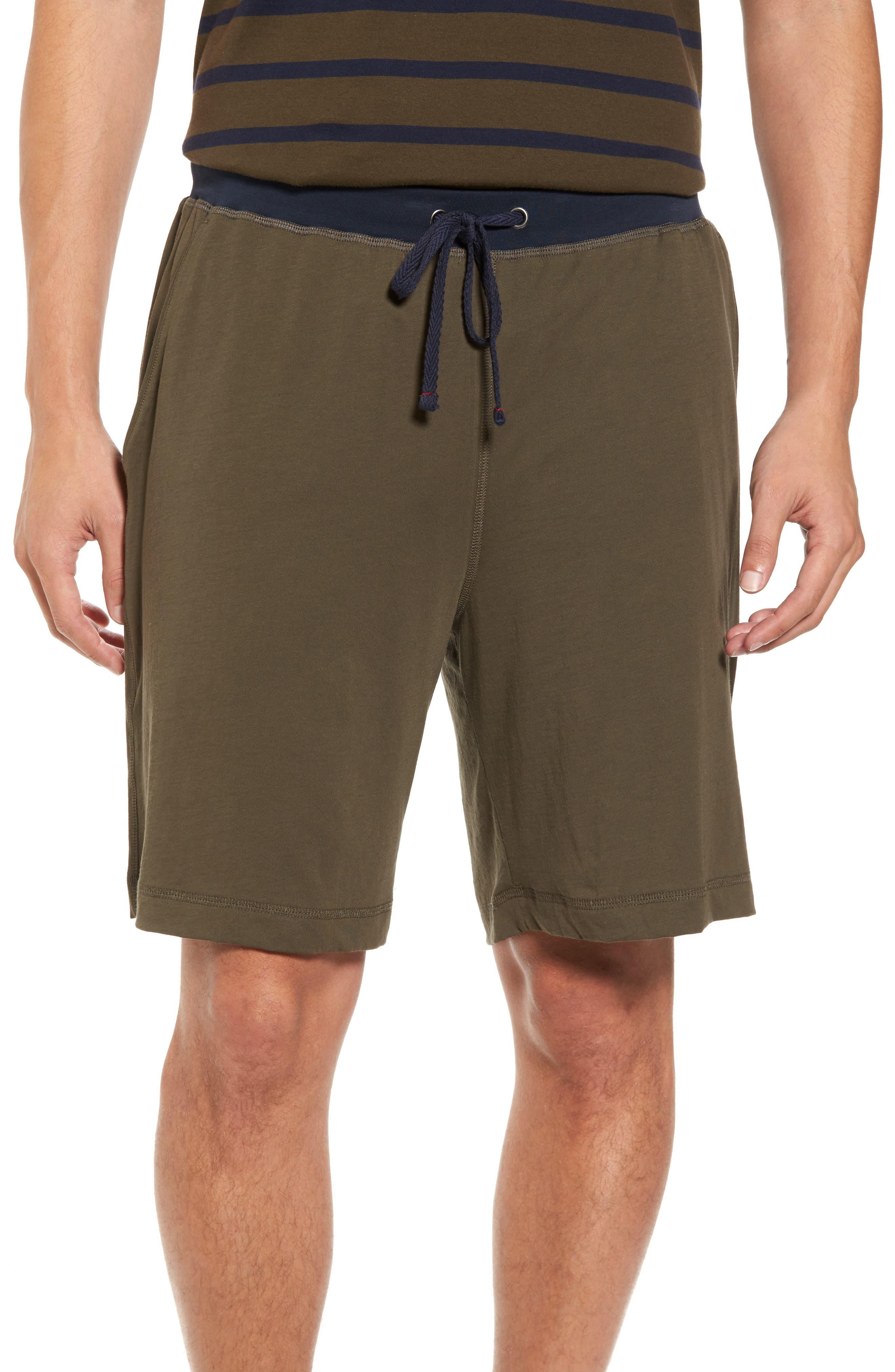 Peruvian Pima Cotton Lounge Shorts,                         Main,                         color, Army