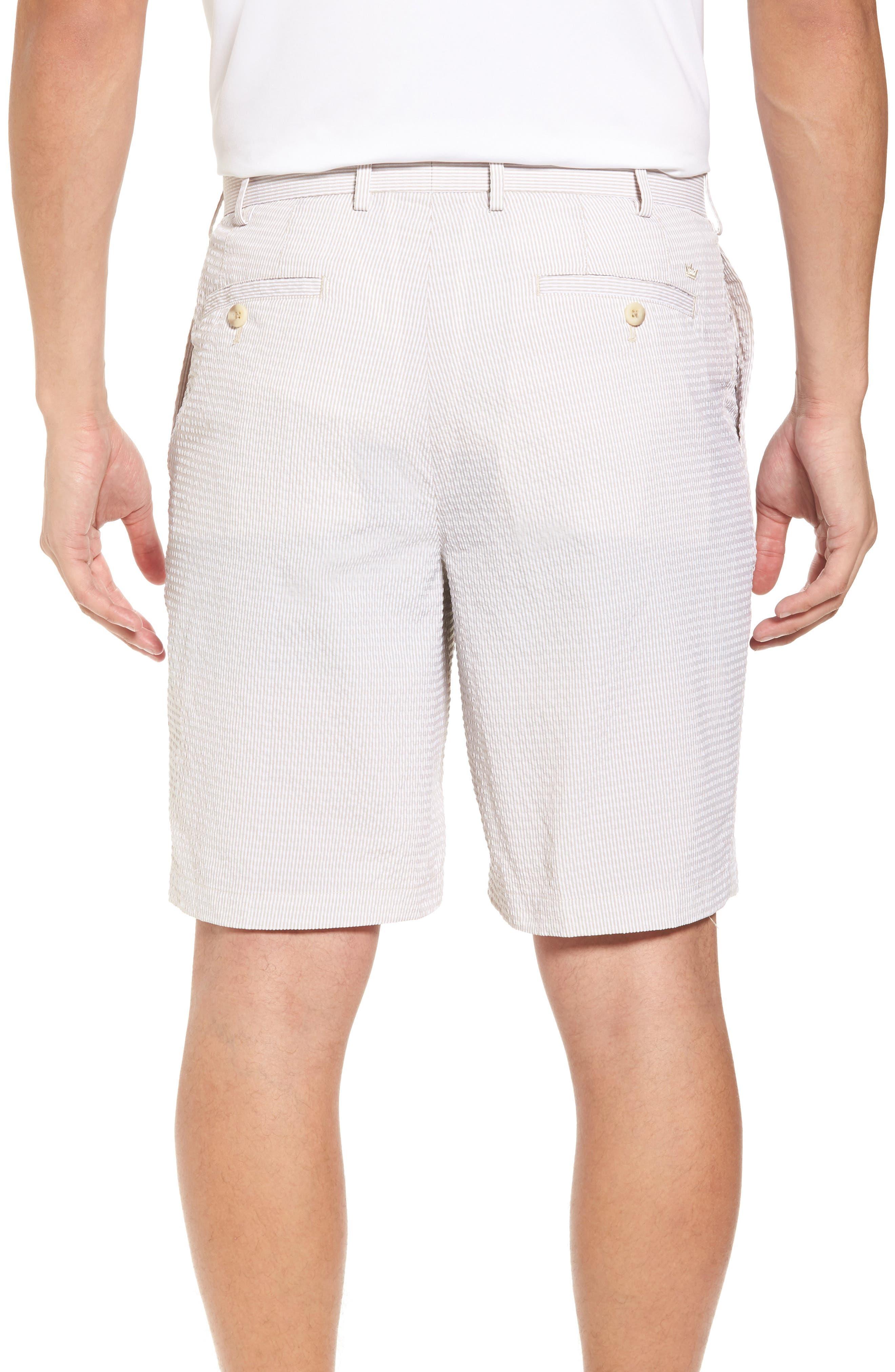 Apex Pinstripe Seersucker Shorts,                             Alternate thumbnail 2, color,                             Khaki