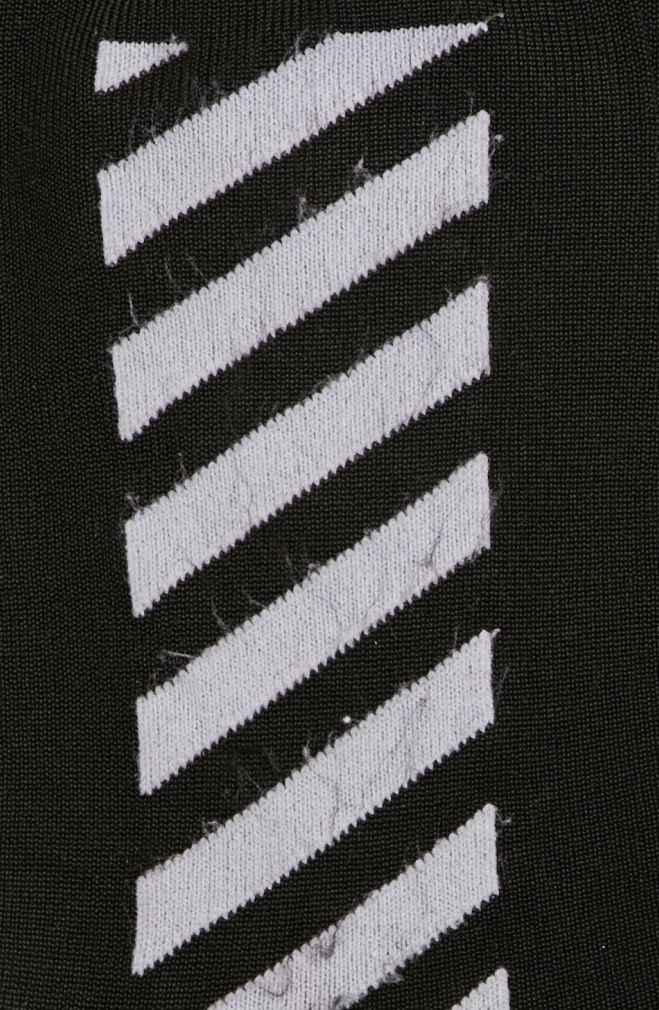 Diagonal Long Socks,                             Alternate thumbnail 2, color,                             Black/ White