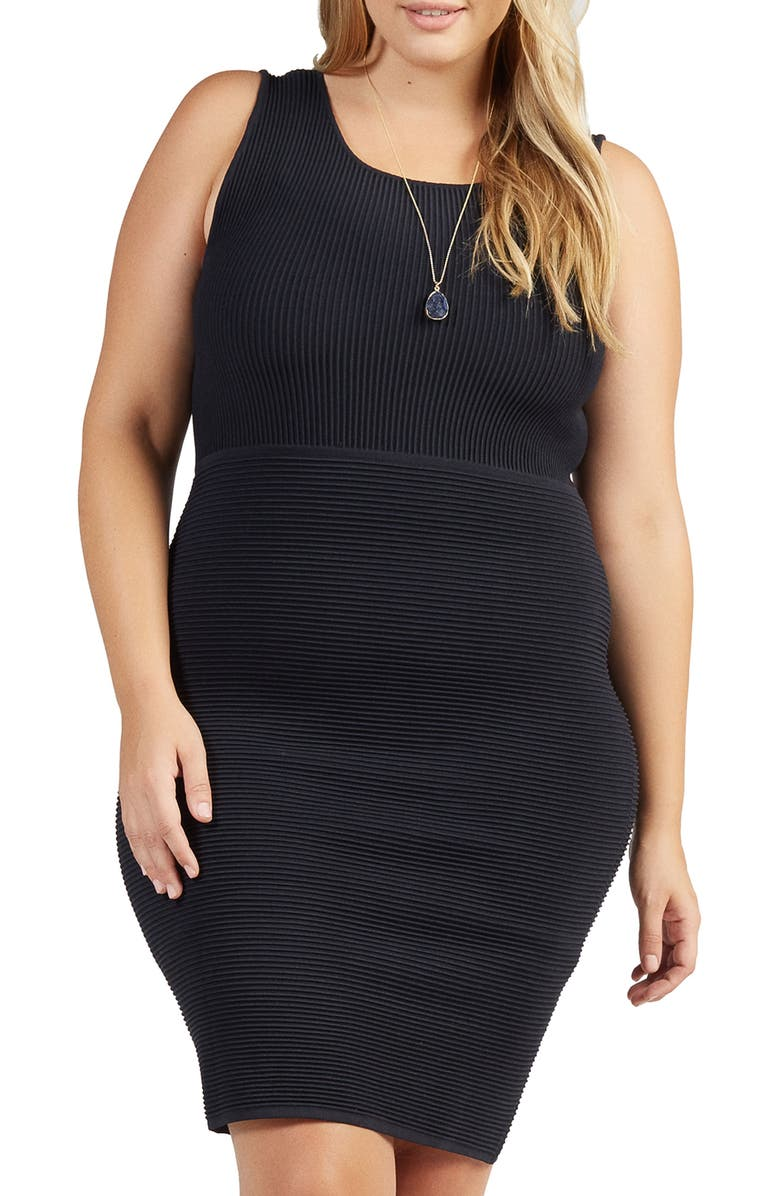Beri Rib Knit Body-Con Dress