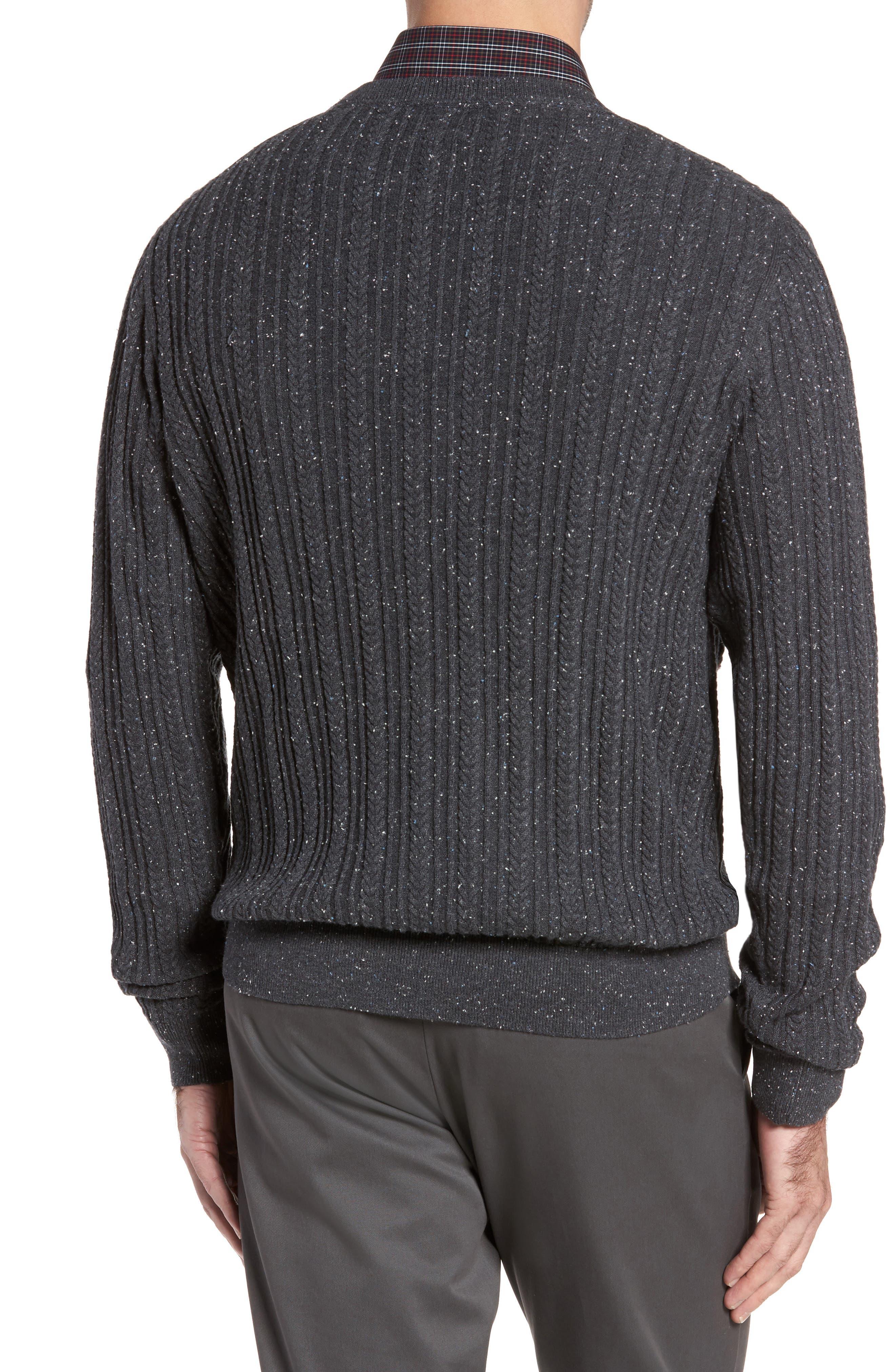 Alternate Image 2  - Cutter & Buck Carlton Crewneck Sweater