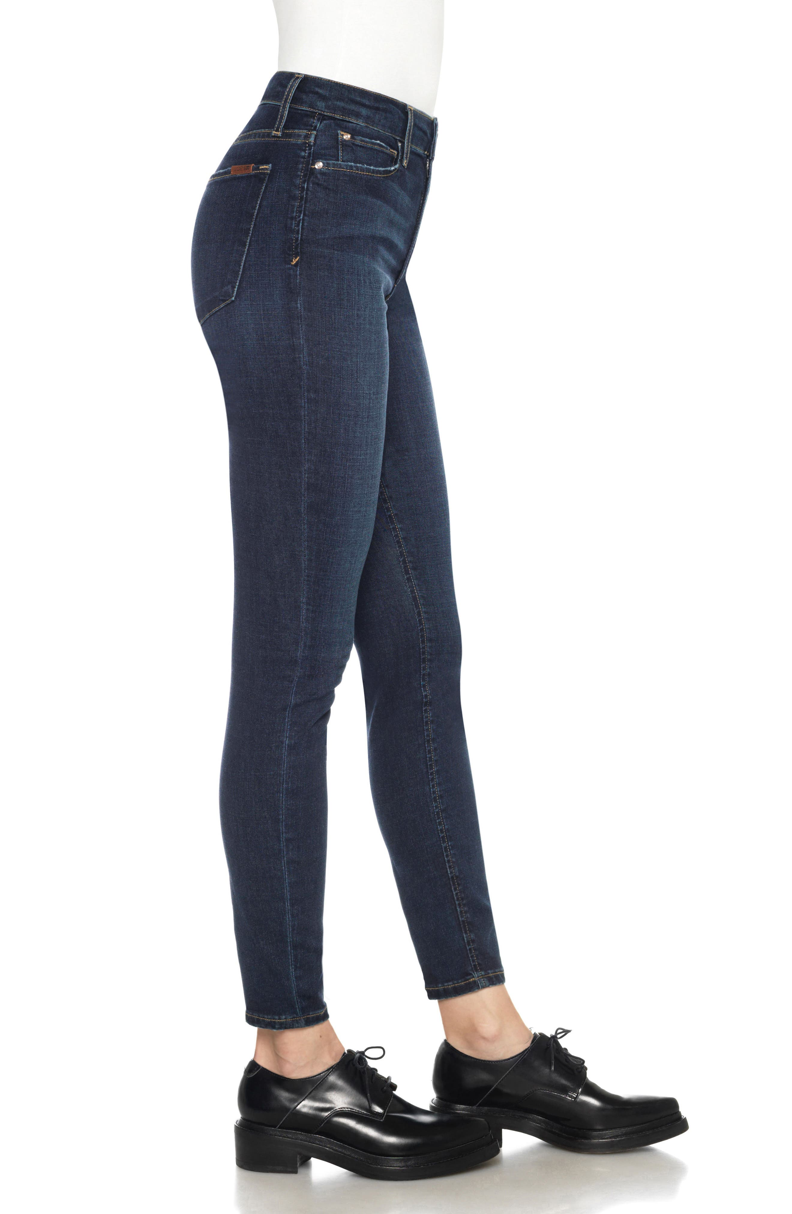 Flawless - Charlie High Rise Ankle Skinny Jeans,                             Alternate thumbnail 3, color,                             Tania