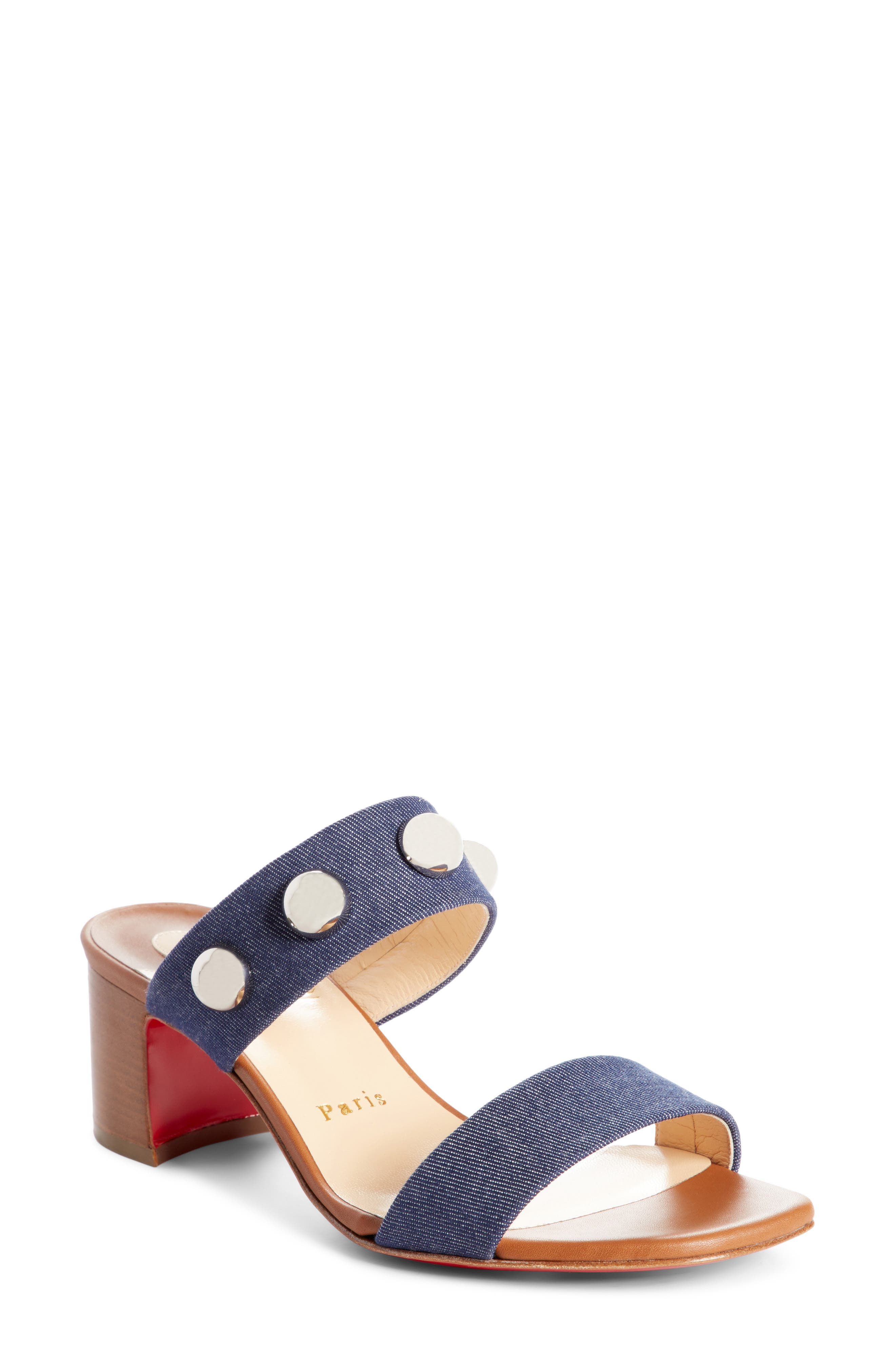 Christian Louboutin Simple Bille Ornament Slide Sandal