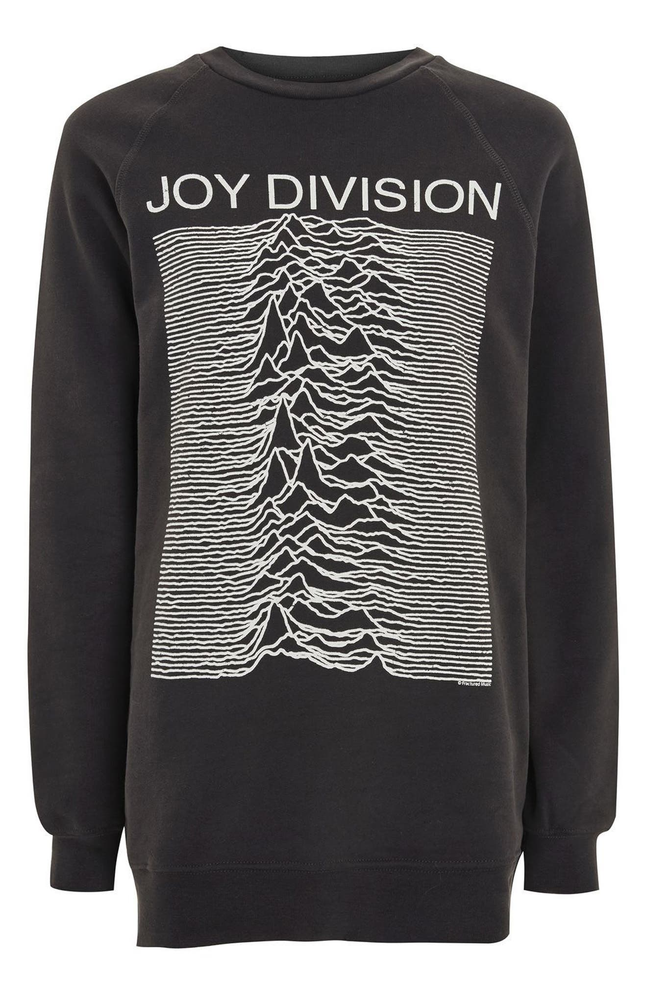 by And Finally Joy Division Sweatshirt,                             Alternate thumbnail 4, color,                             Washed Black Multi