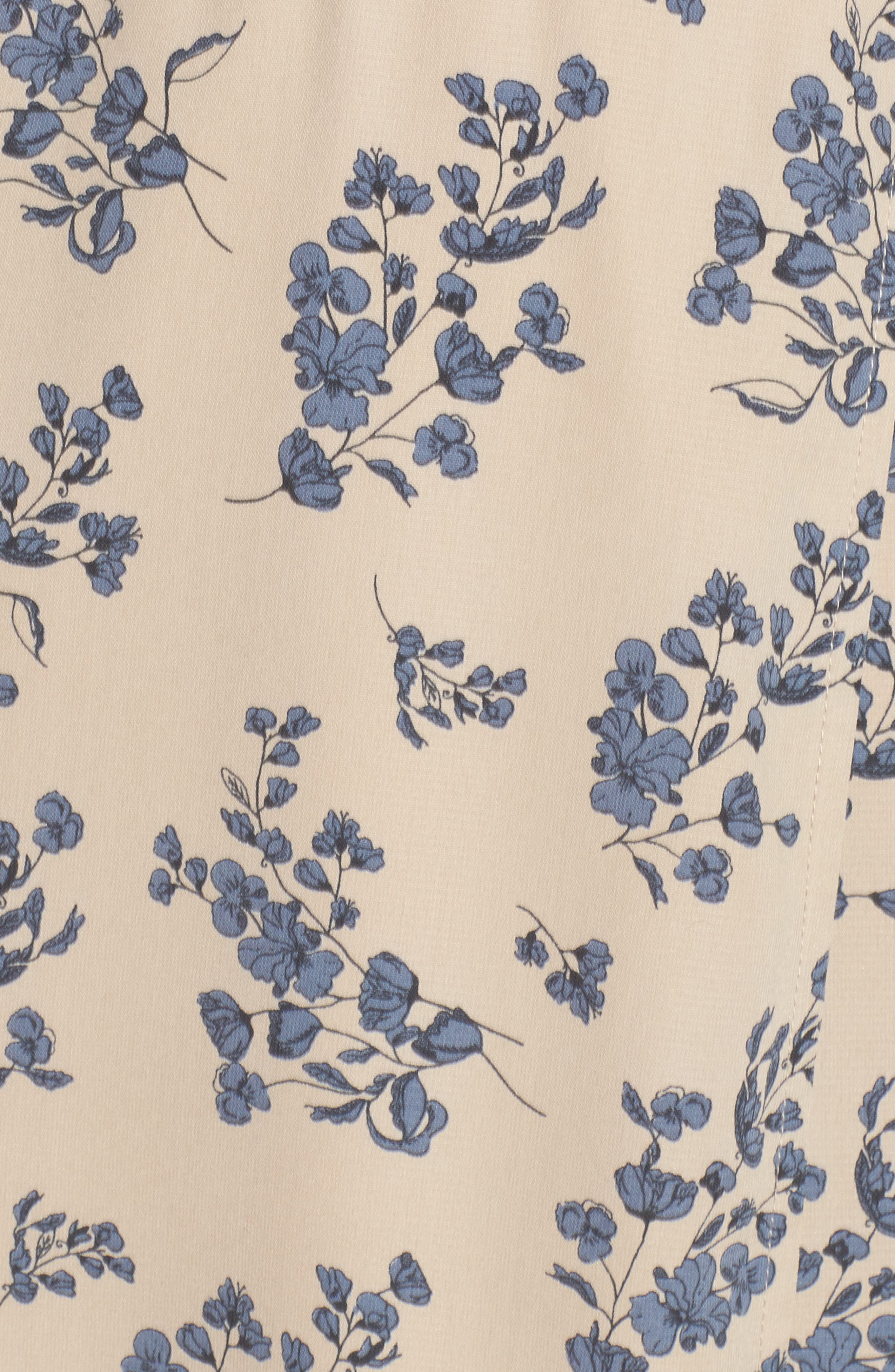Floral Print Wrap Dress,                             Alternate thumbnail 5, color,                             Taupe Floral