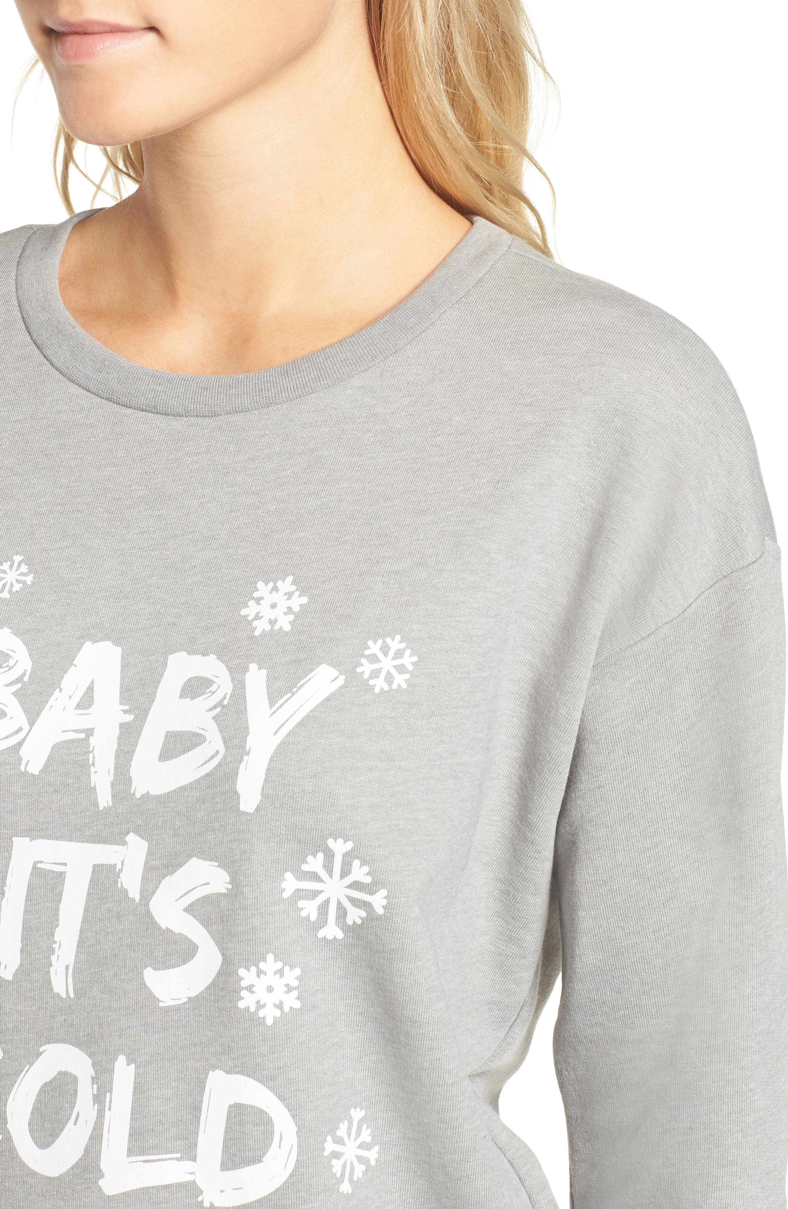Alternate Image 4  - South Parade Baby It's Cold Outside Sweatshirt