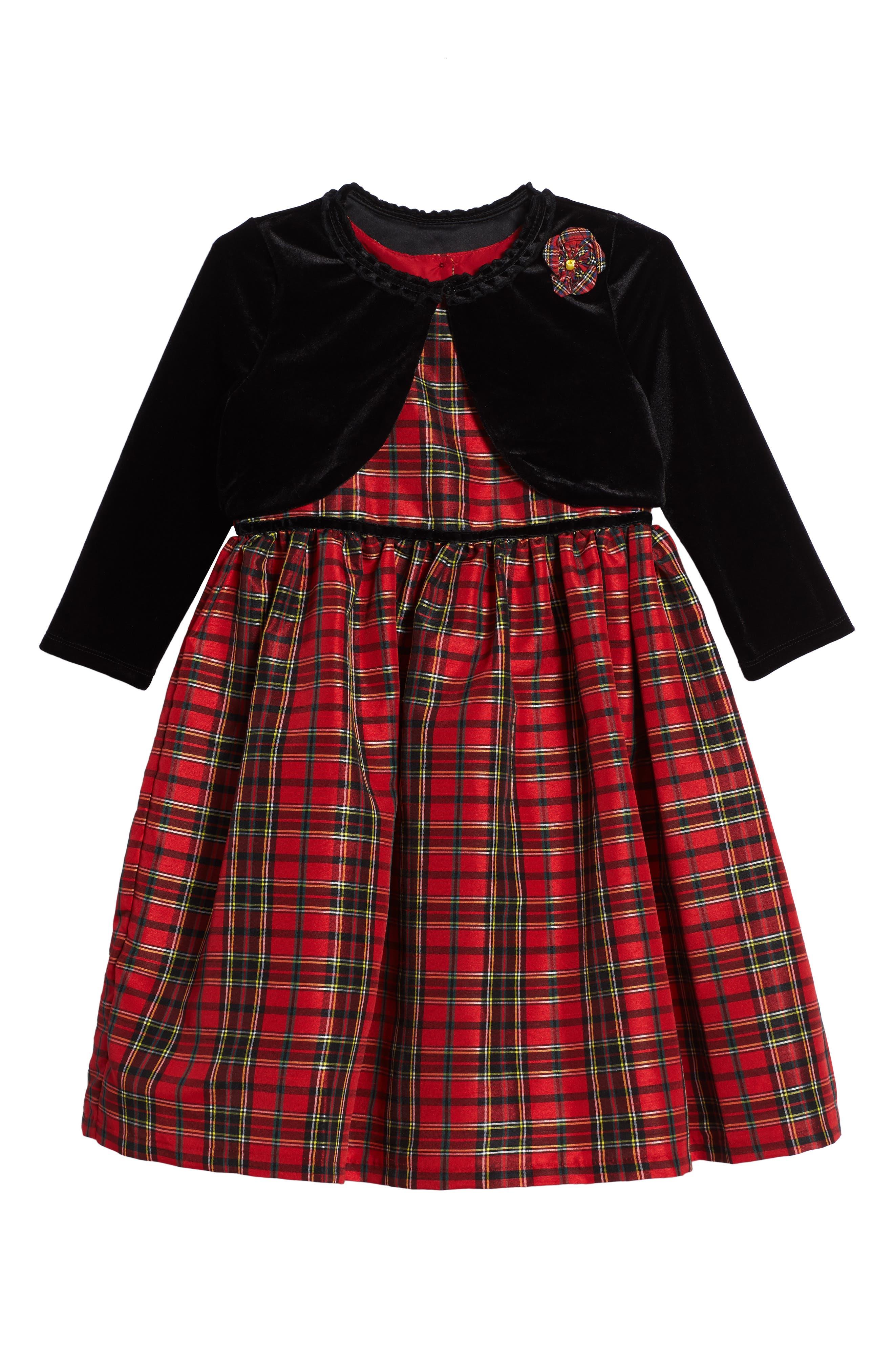 Pippa & Julie Plaid Dress & Jacket Set (Toddler Girls, Little Girls & Big Girls)