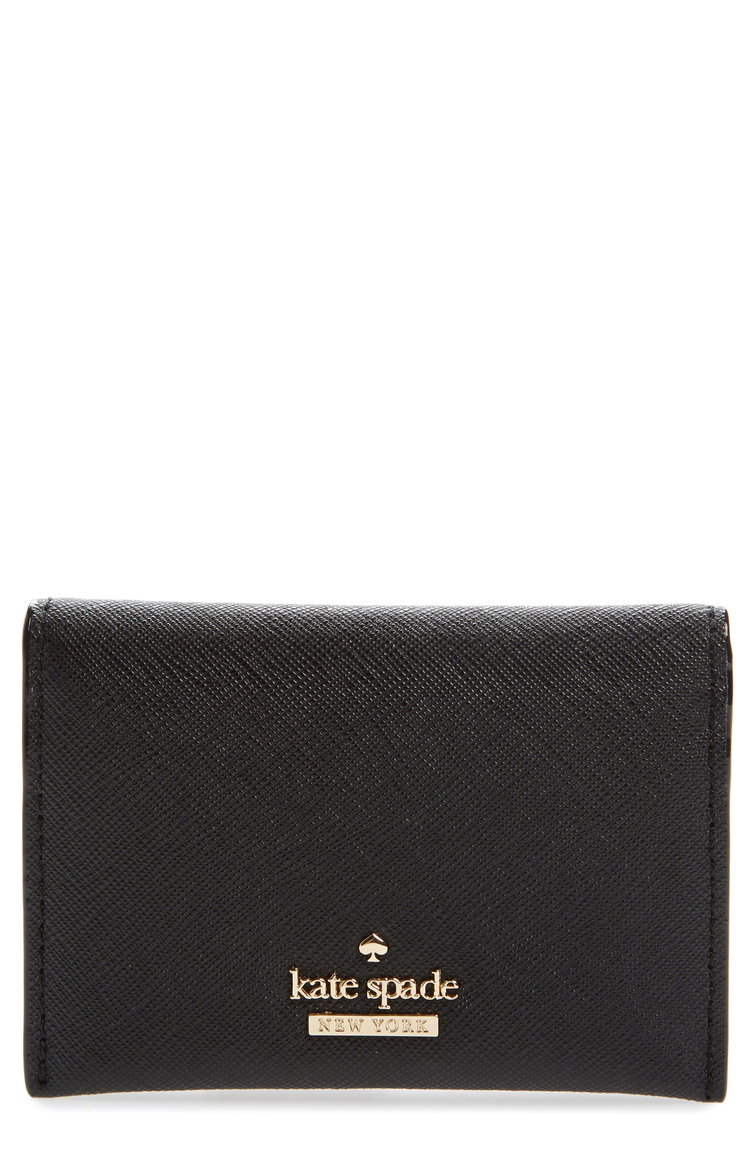 cameron street - farren leather card case,                         Main,                         color, Black