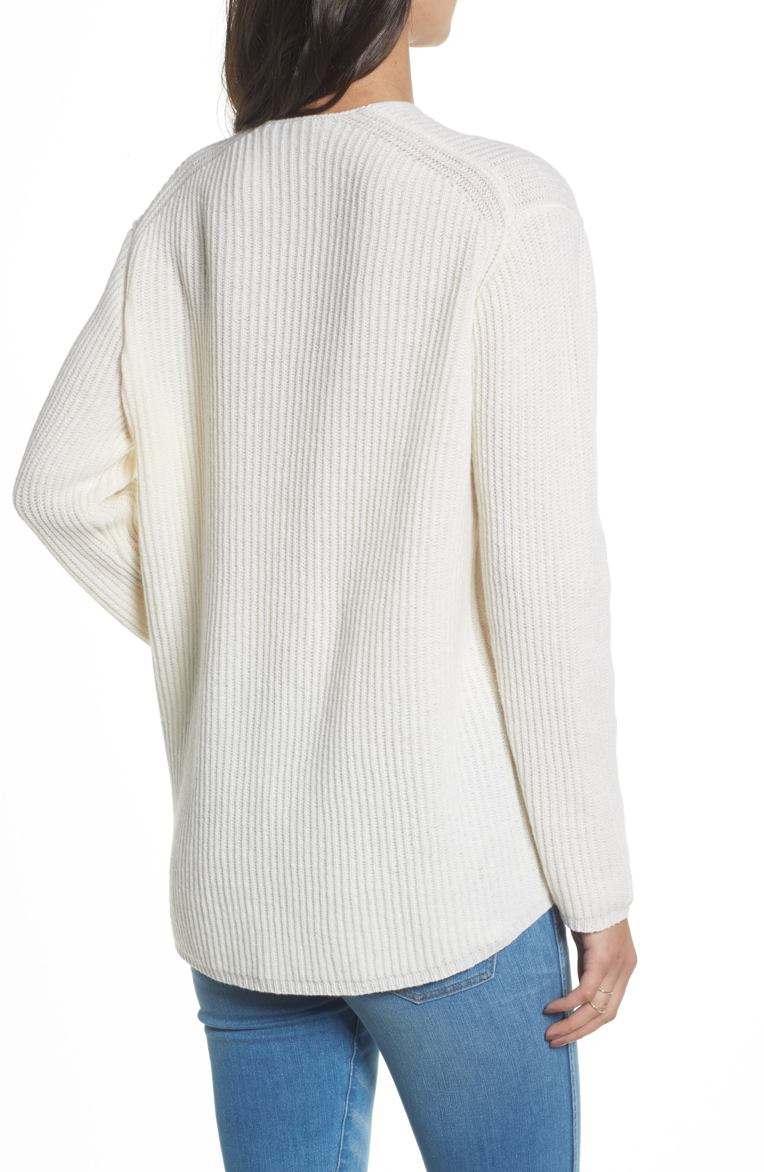 Woodside Pullover Sweater,                             Alternate thumbnail 2, color,                             Antique Cream