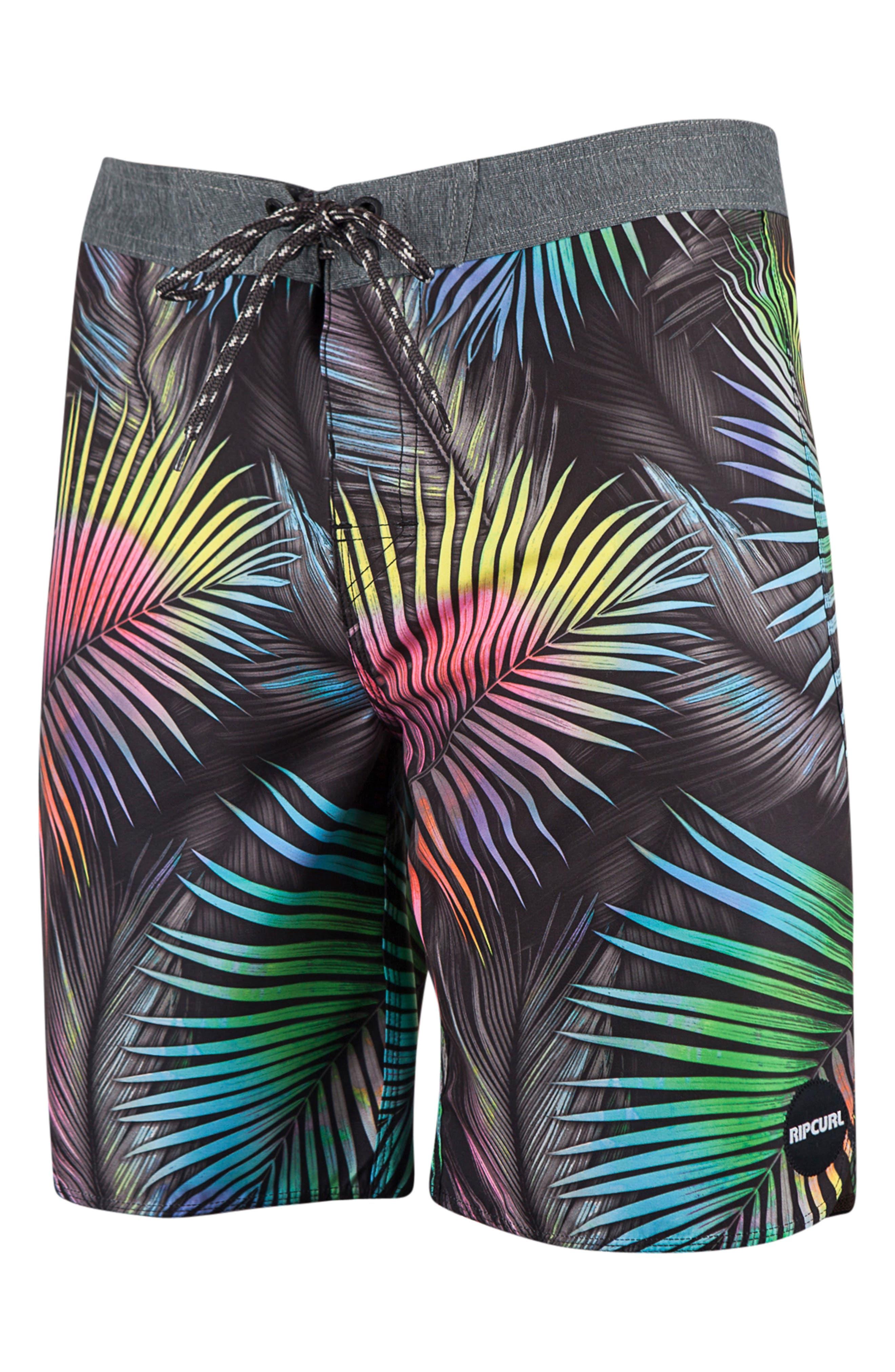 Finley Board Shorts,                         Main,                         color, Charcoal Grey