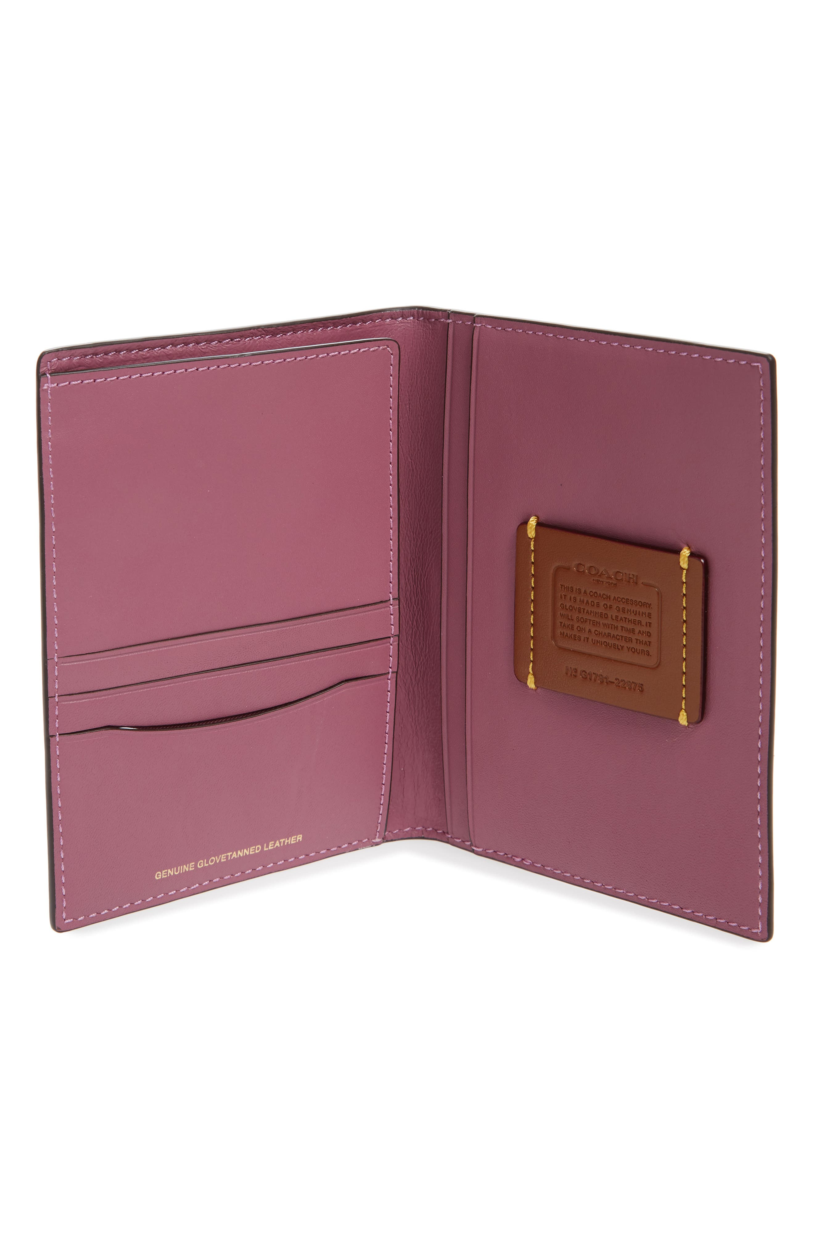 Alternate Image 4  - COACH 1941 Leather Passport Case