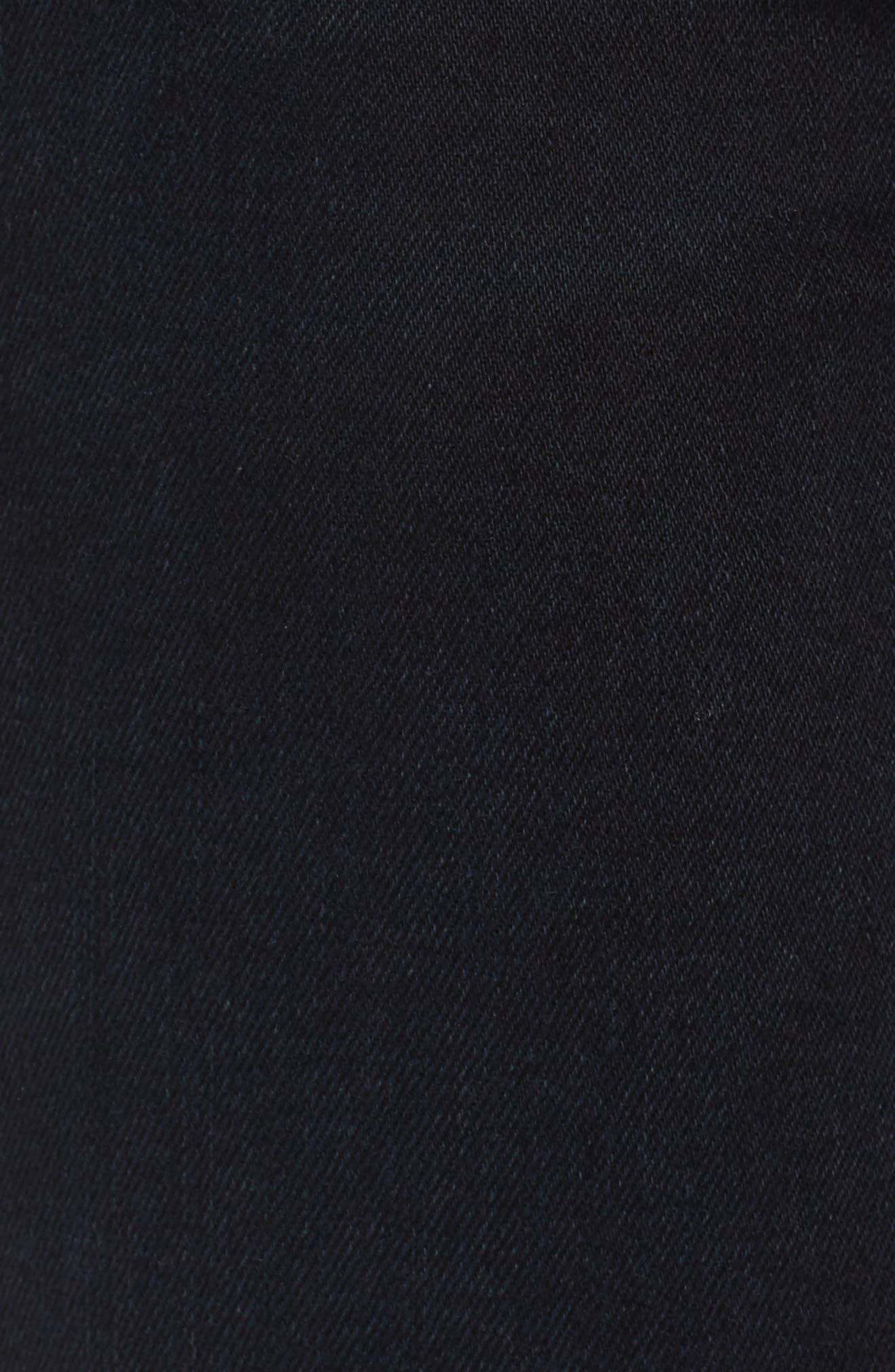 The High Waist Stiletto Ankle Skinny Jeans,                             Alternate thumbnail 5, color,                             Blueridge W/ Uneven Cut Hem