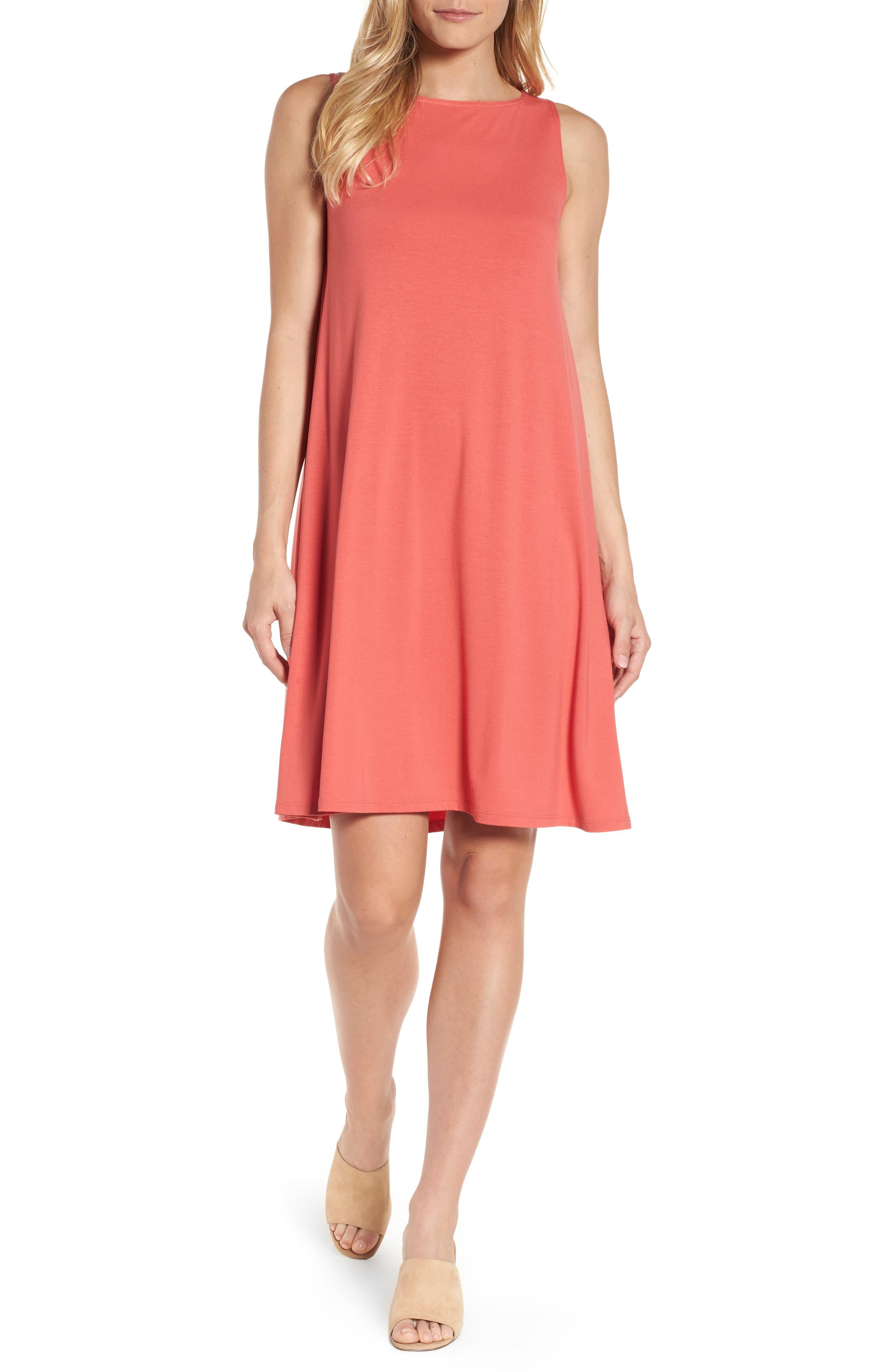Jersey Shift Dress,                             Main thumbnail 1, color,                             Mimosa