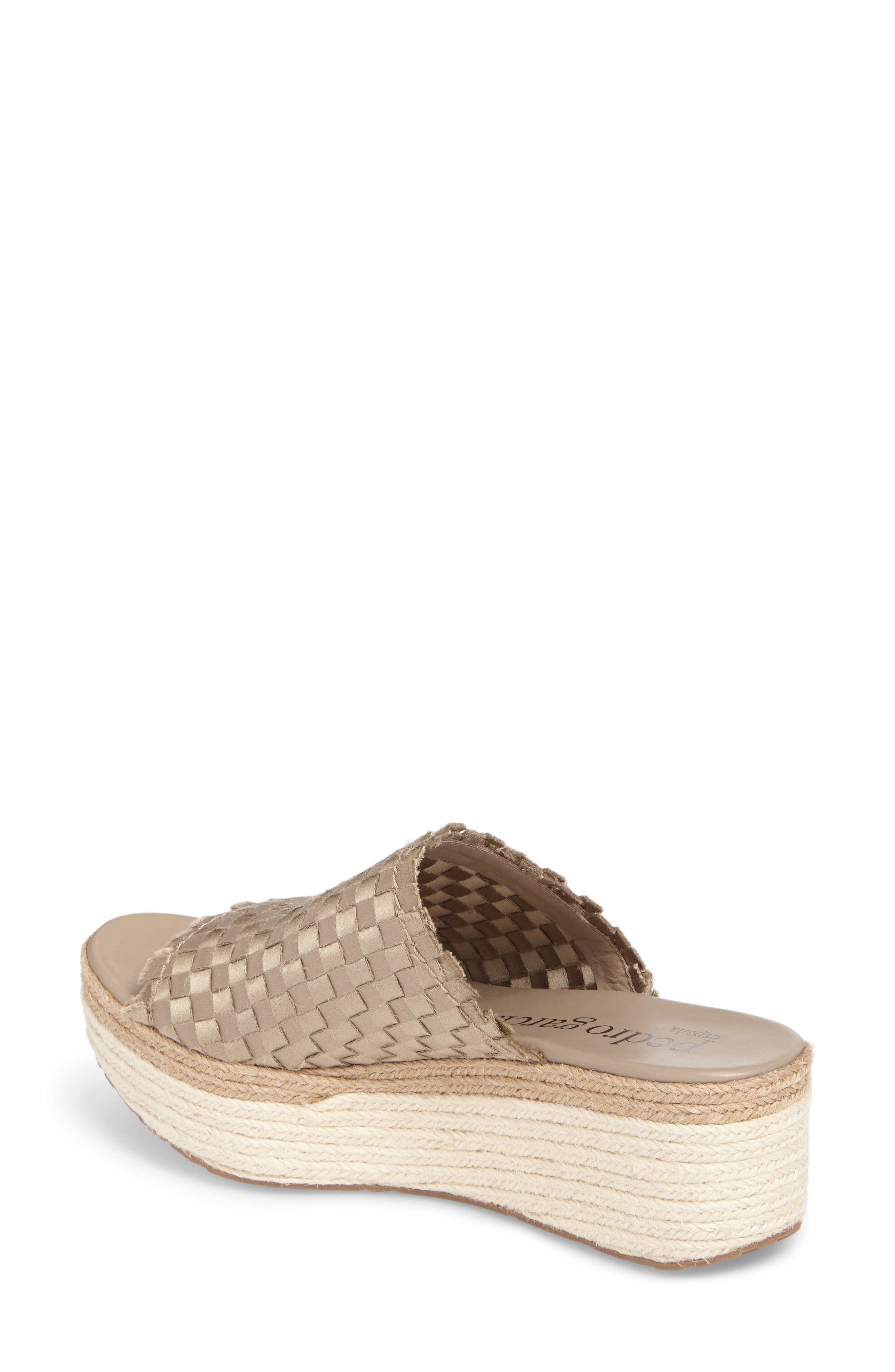 Noema Woven Espadrille Mule,                             Alternate thumbnail 2, color,                             Twill Satin