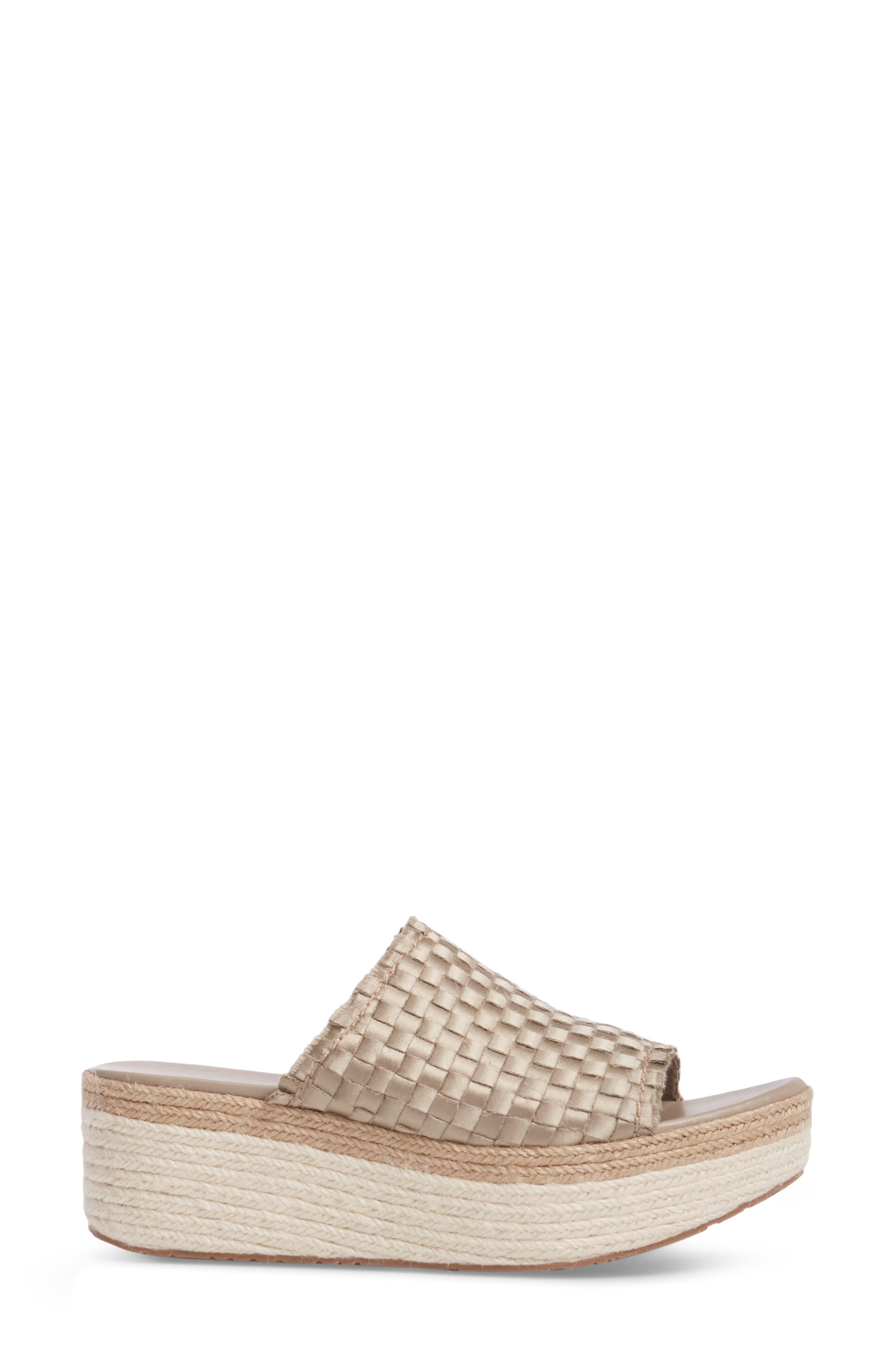 Noema Woven Espadrille Mule,                             Alternate thumbnail 3, color,                             Twill Satin