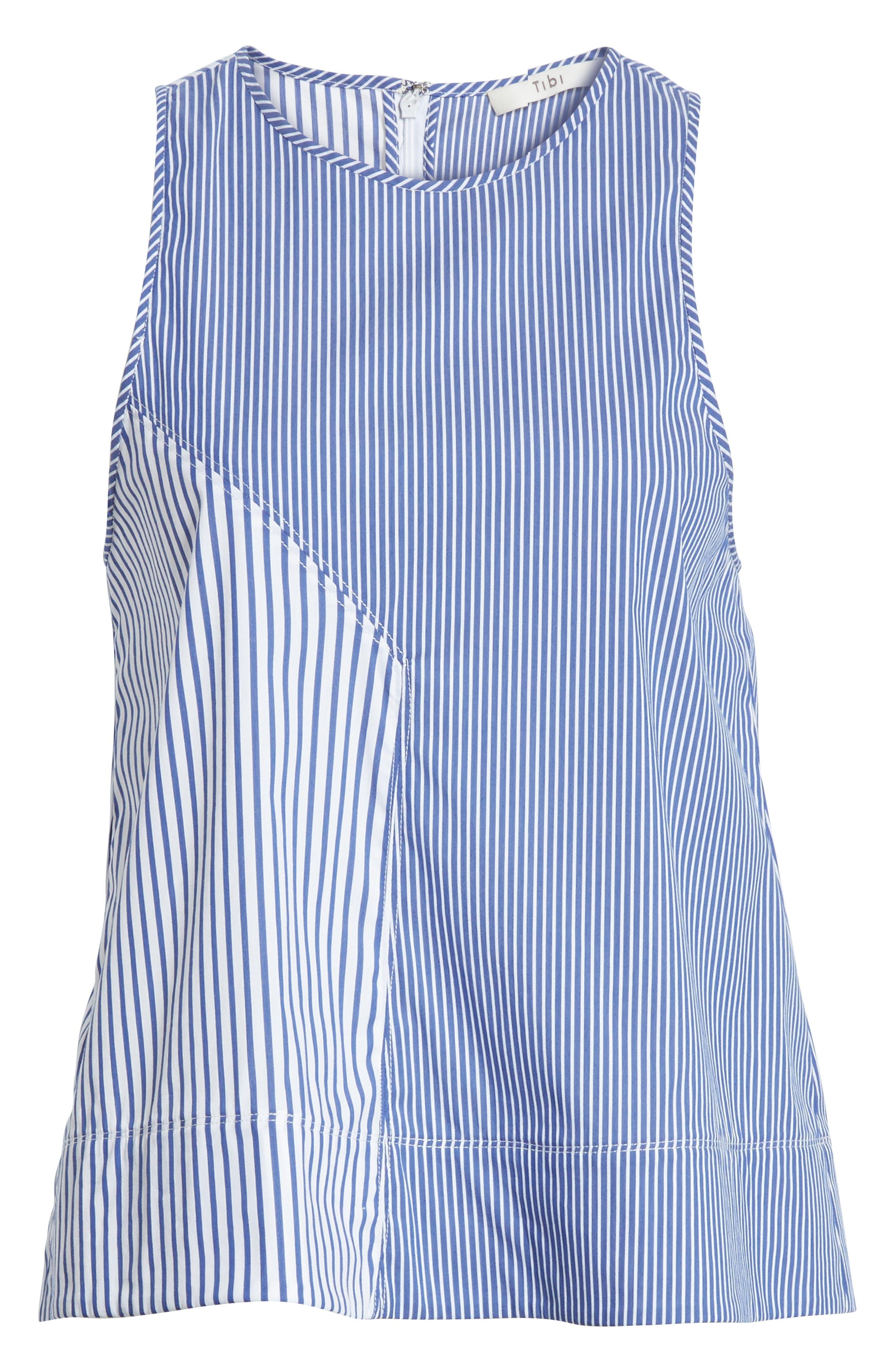 Colorblock Stripe Tank,                             Alternate thumbnail 6, color,                             Blue Multi