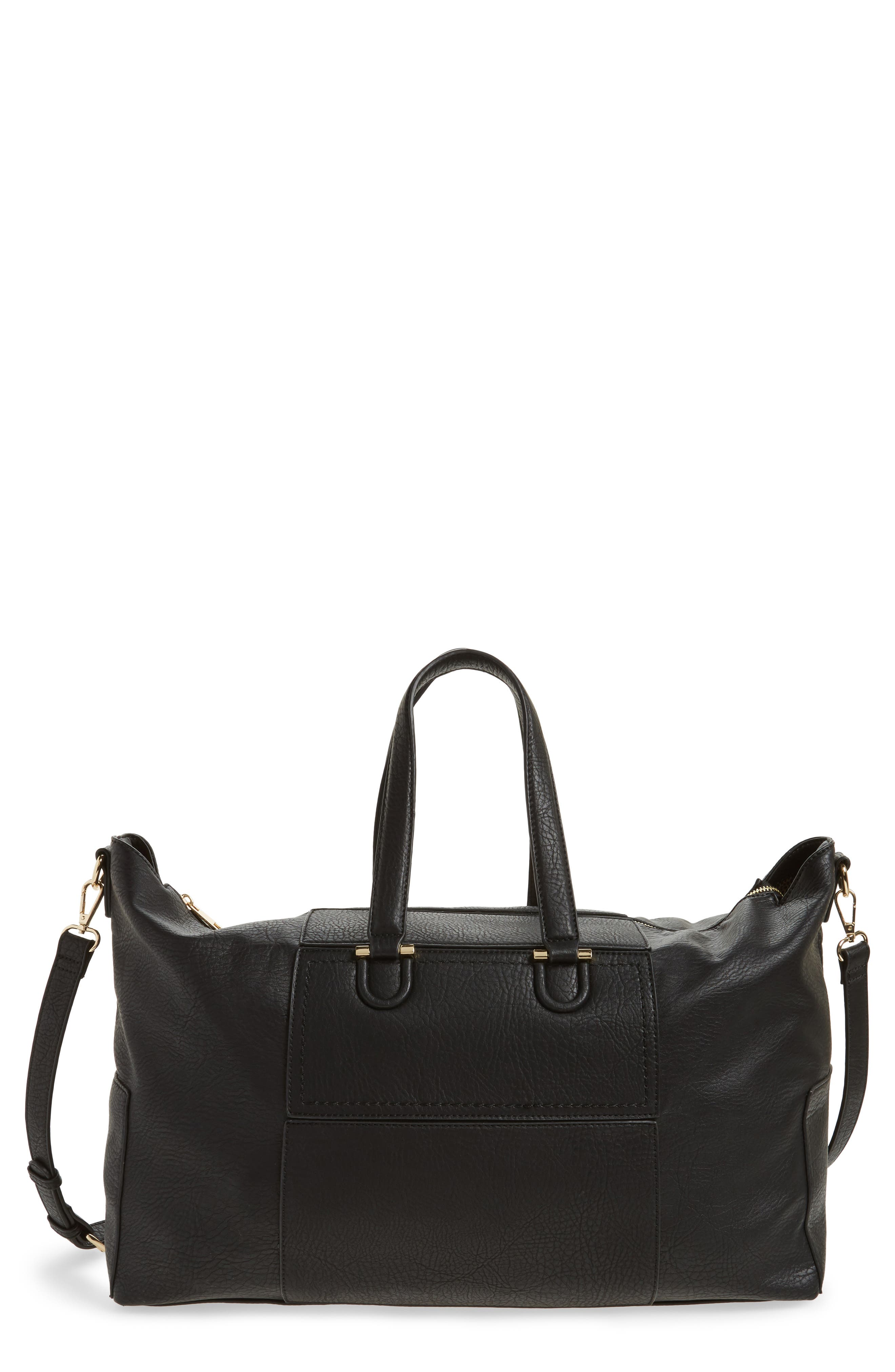 Main Image - Sole Society Cory Faux Leather Travel Tote