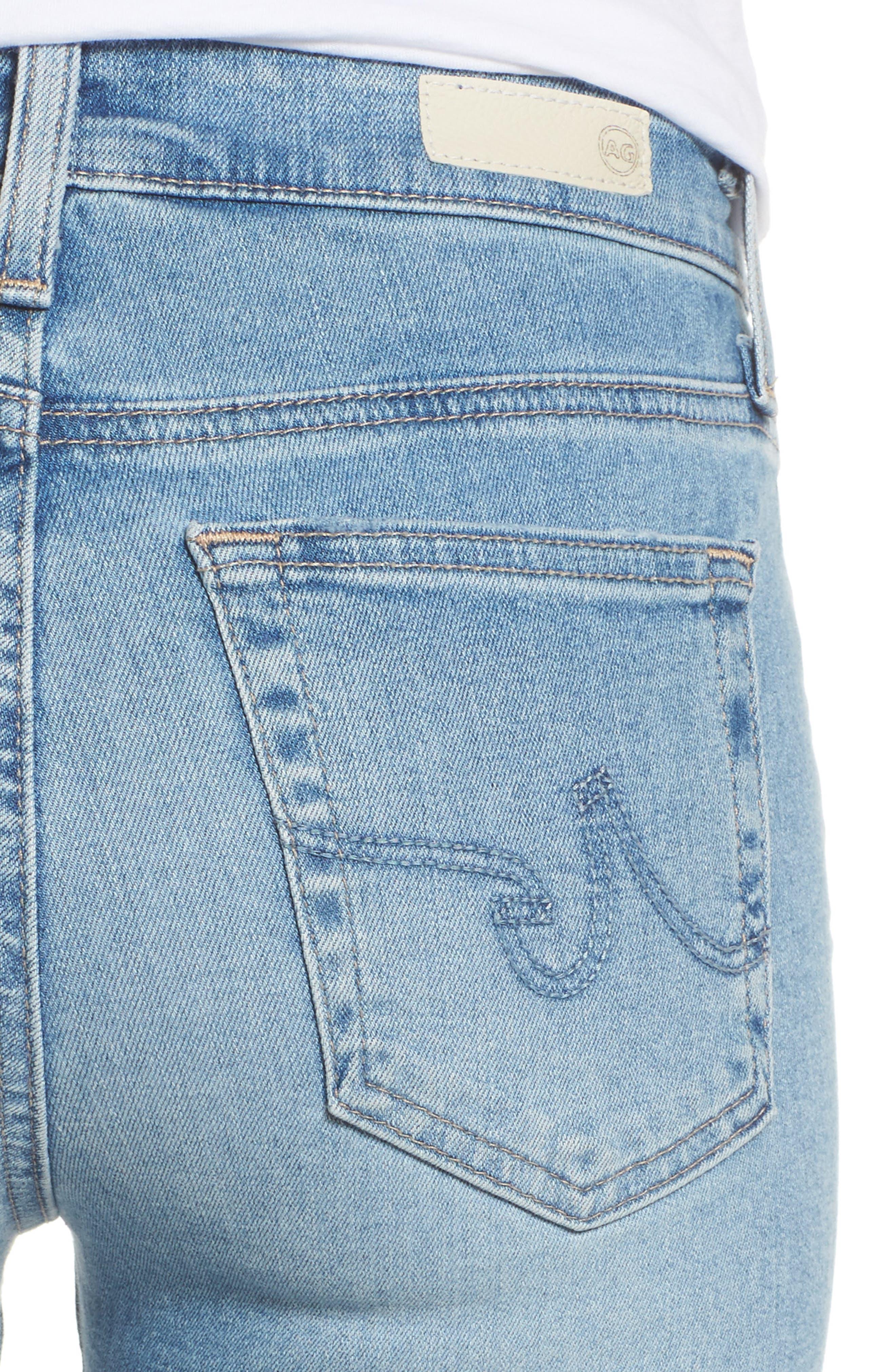 The Farrah High Waist Ankle Skinny Jeans,                             Alternate thumbnail 4, color,                             18 Years Cruising